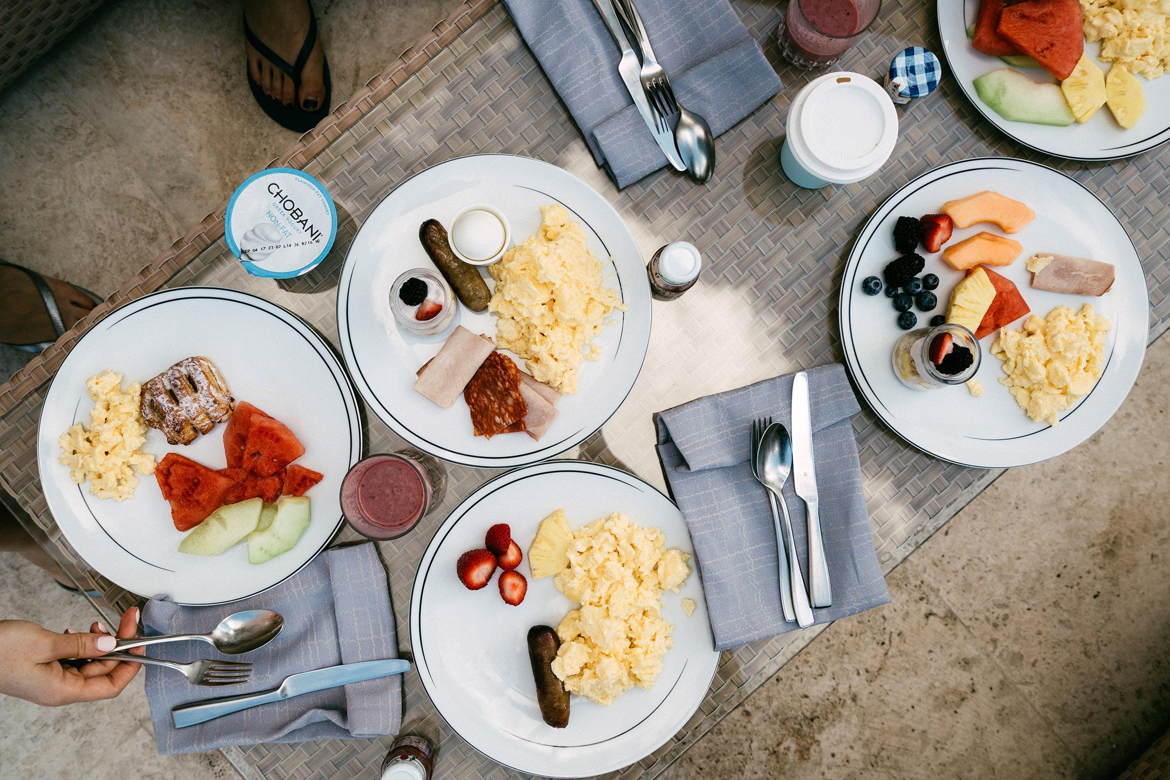 Buffet breakfast (we love our eggs)