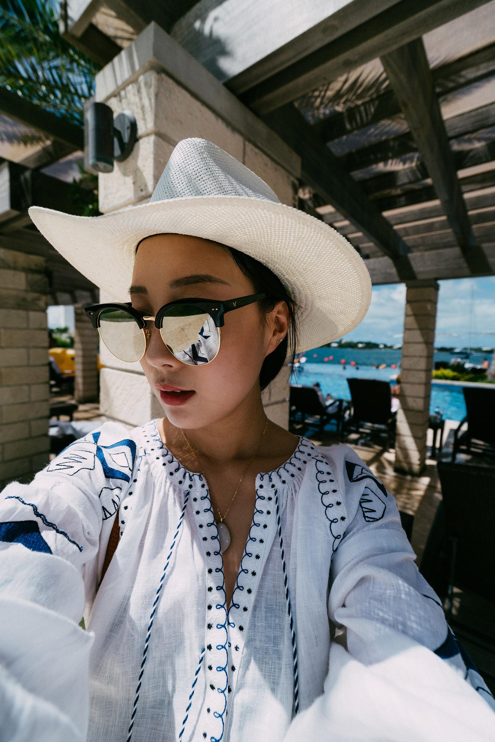 March 11 Dress ,  Janessa Leone Hat ,  Gentle Monster Sunglasses ,  CVC Stones Necklace ,  Etude House Lip Tint