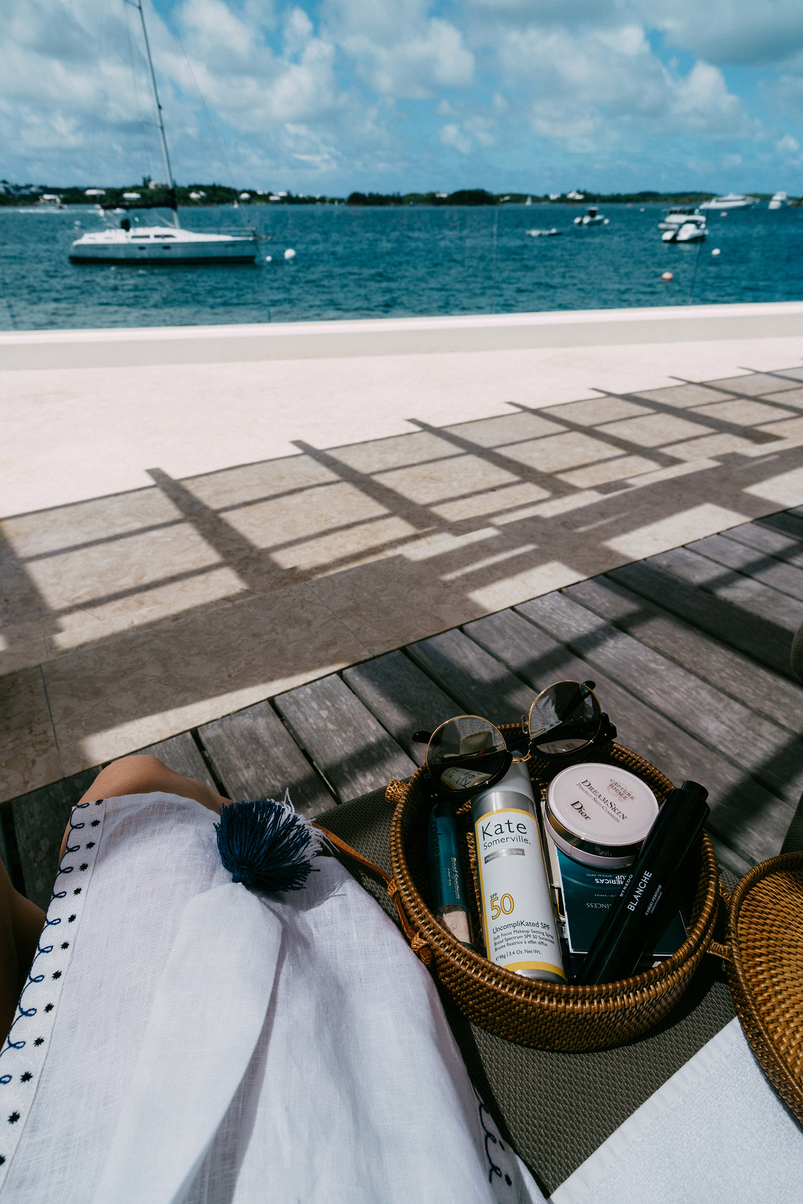 Colorescience Sunscreen ,  Kate Somerville Sunscreen ,  Dior Cushion Compact ,  Byredo Perfume ,  Gentle Monster Sunglasses