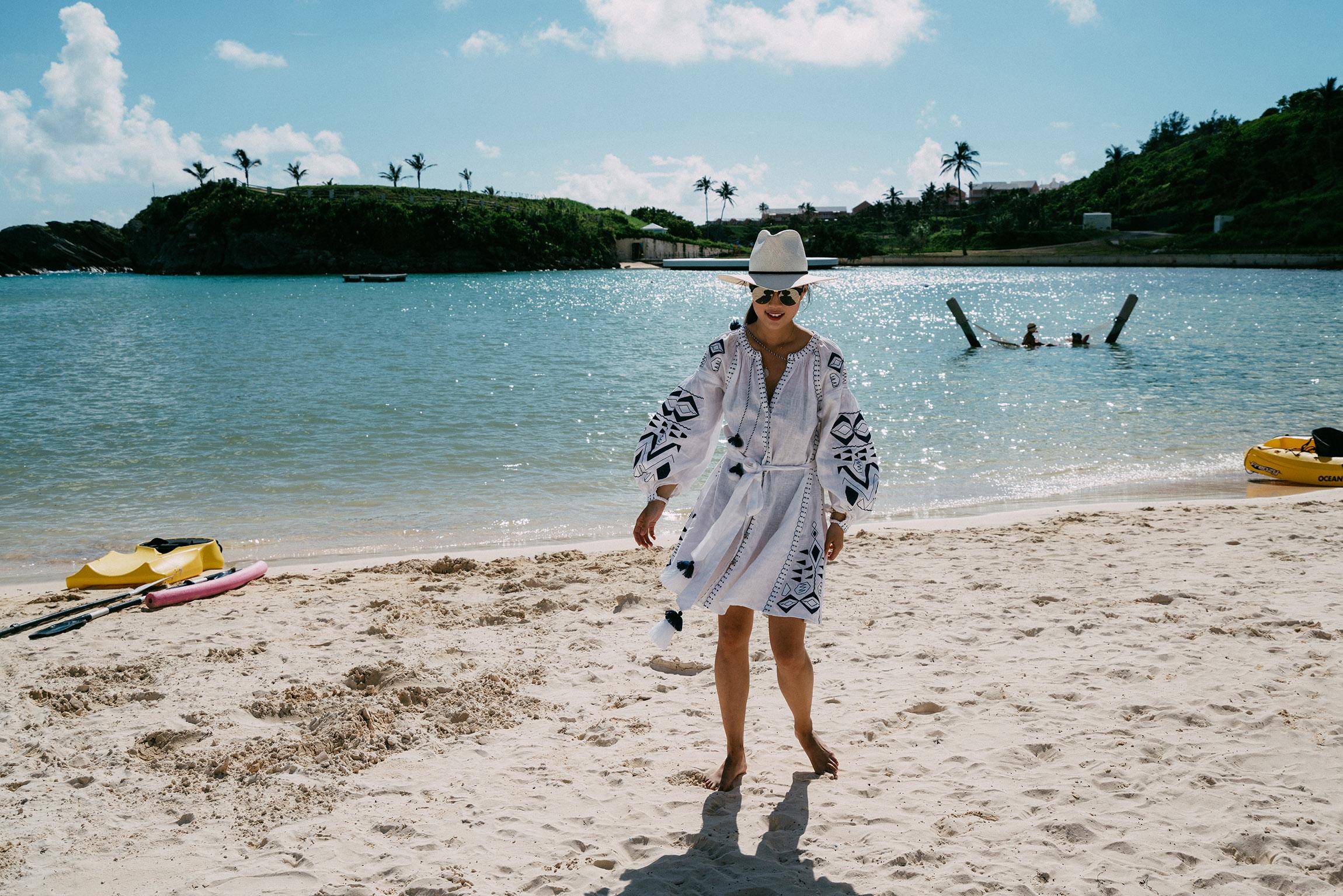 March 11 Dress ,  Janessa Leone Hat ,  Gentle Monster Sunglasses