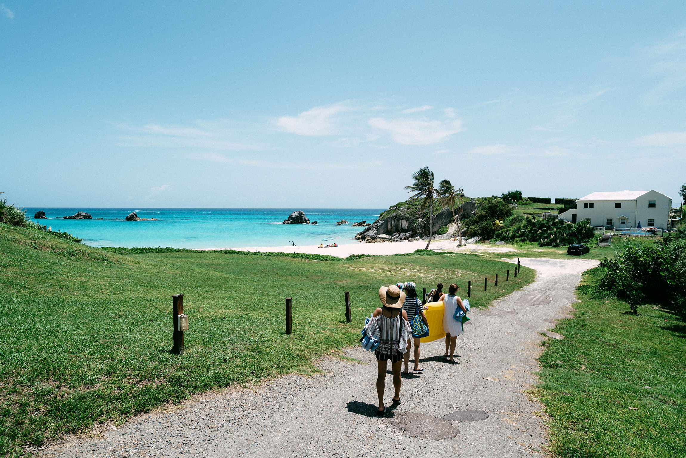 Heading down to the other side of the  Princess Beach Club , a private beach!
