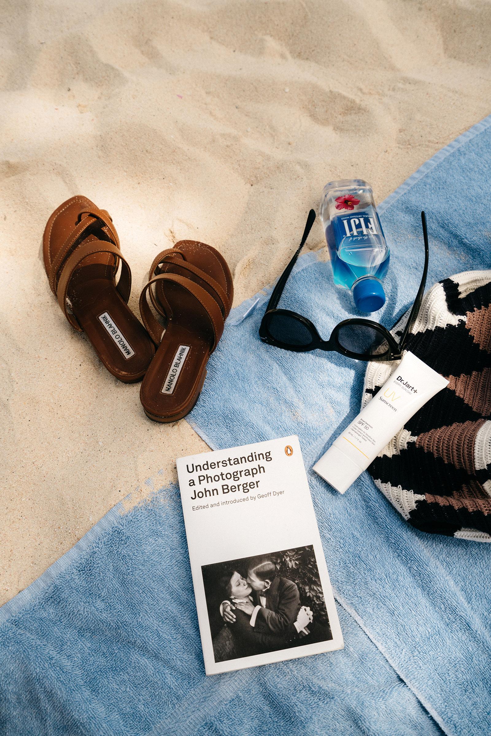 Manolo Blahnik Sandals , Céline Sunglasses,  Dr. Jart Sunscreen ,  Sophie Anderson Bag ,  Understanding a Photograph