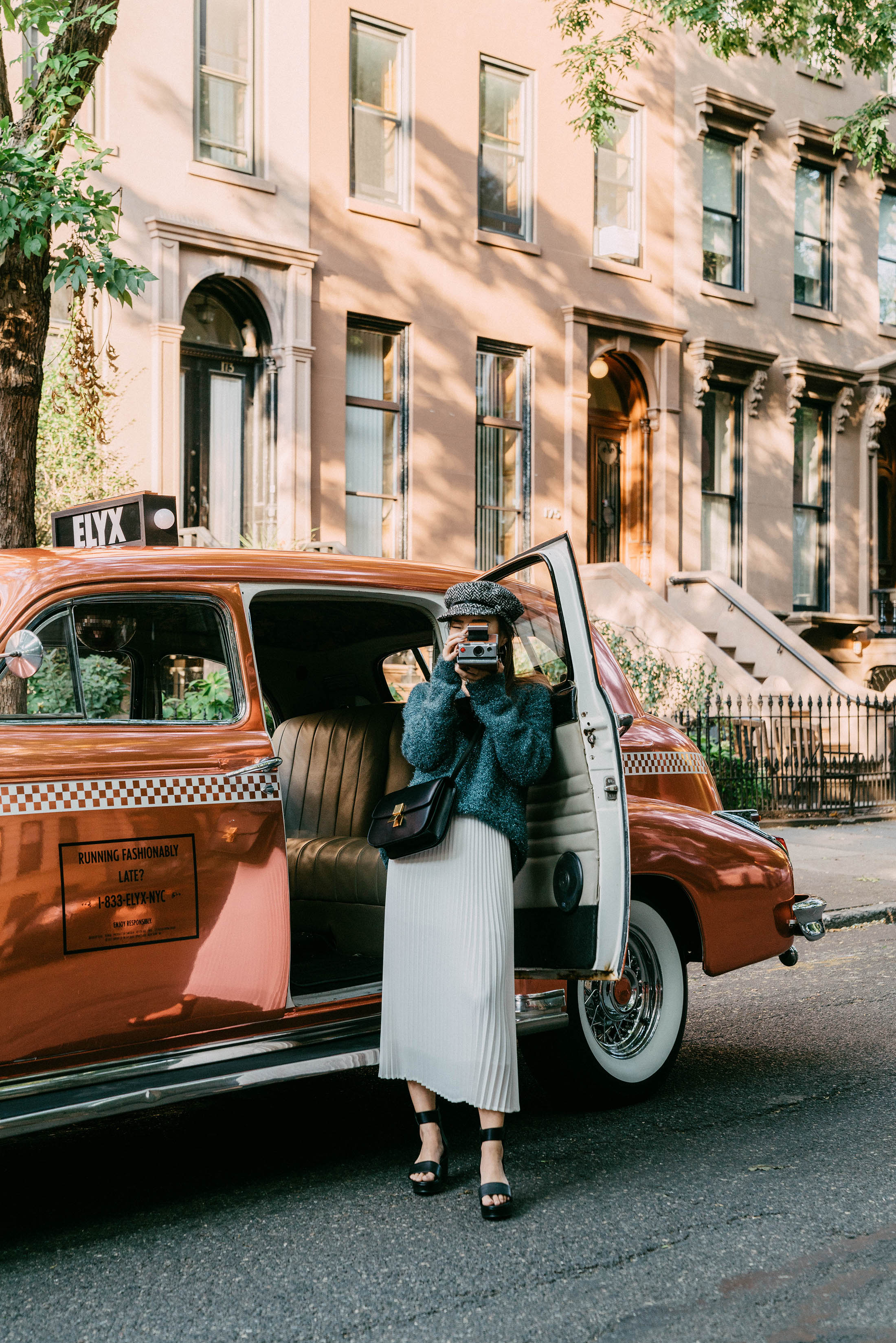 A ride to dinner at  The Nomad Hotel  in the  Absolut Elyx  Copper Cab