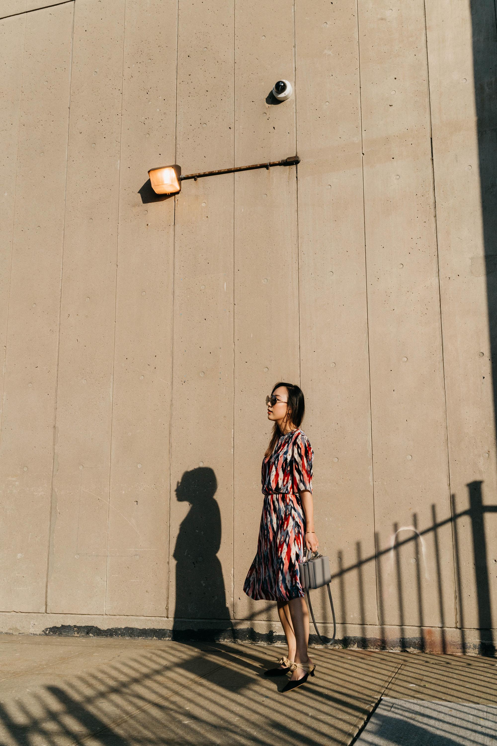 Isabel Marant Dress,  Mark Cross Bag ,  The Row Shoes ,  Altuzarra Sunglasses