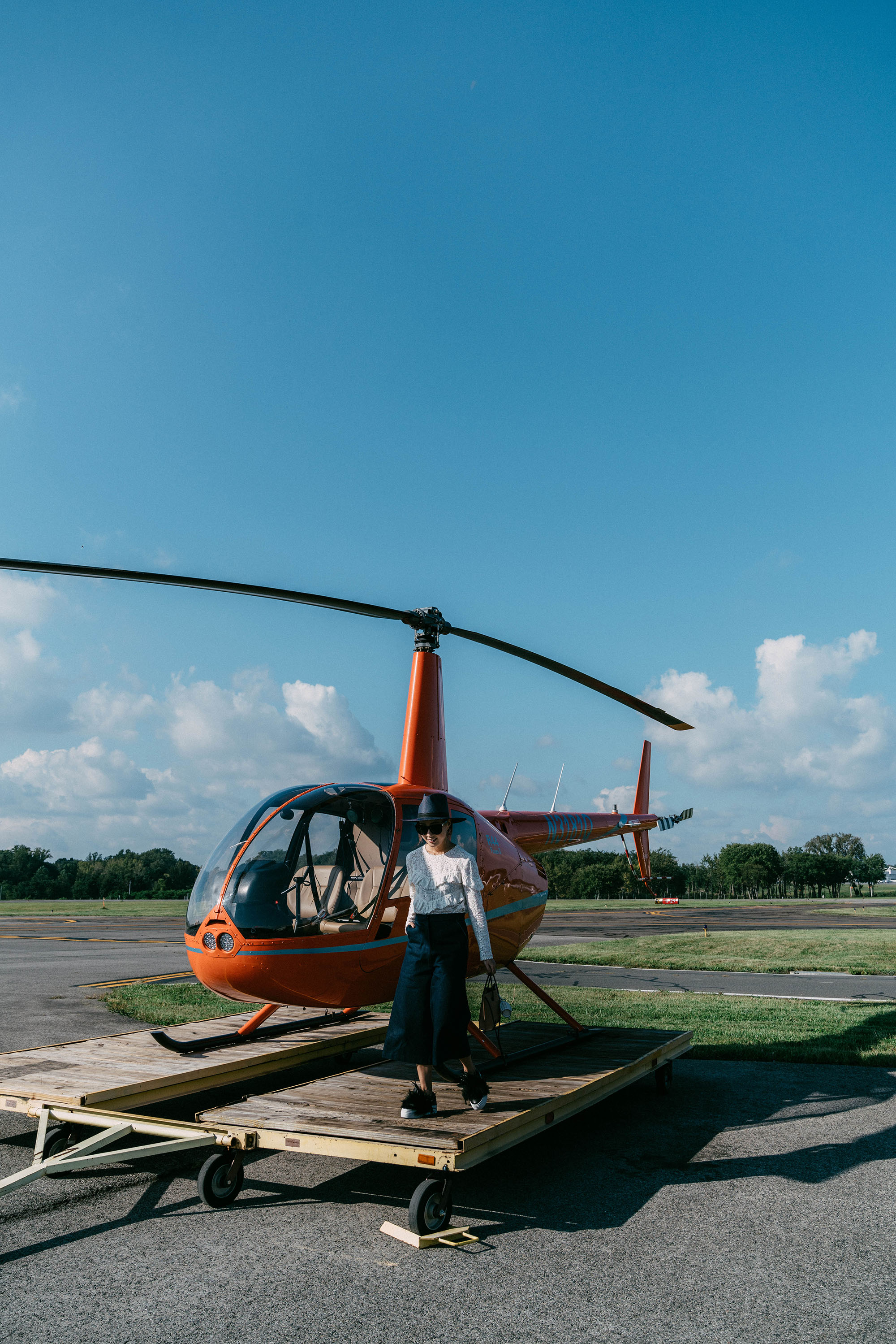 Helicopter ride over Hudson Valley with  American Express membership reward points