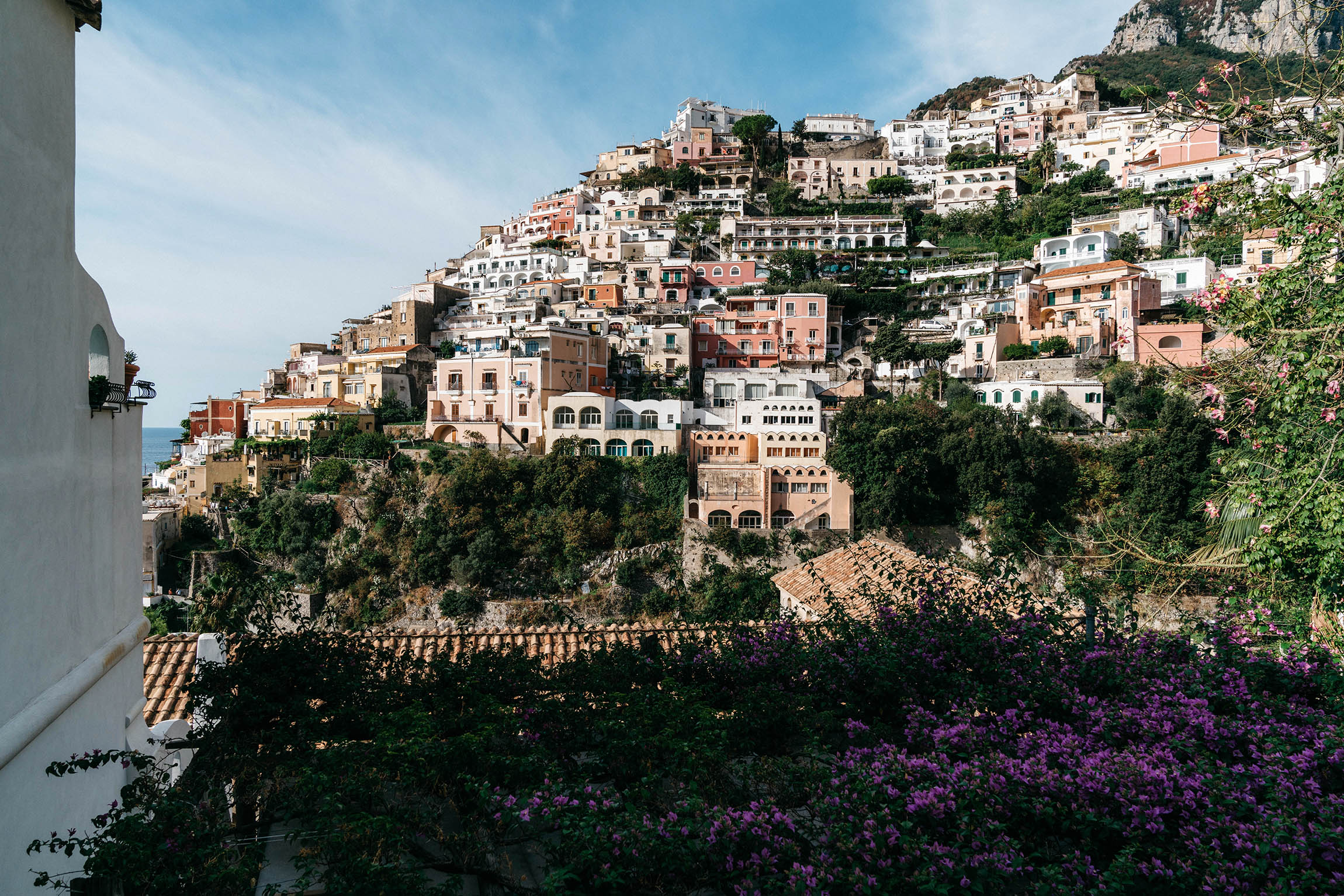 Another picturesque view of Positano en route from our hotel  Casa Angelina  to take a ferry to Capri