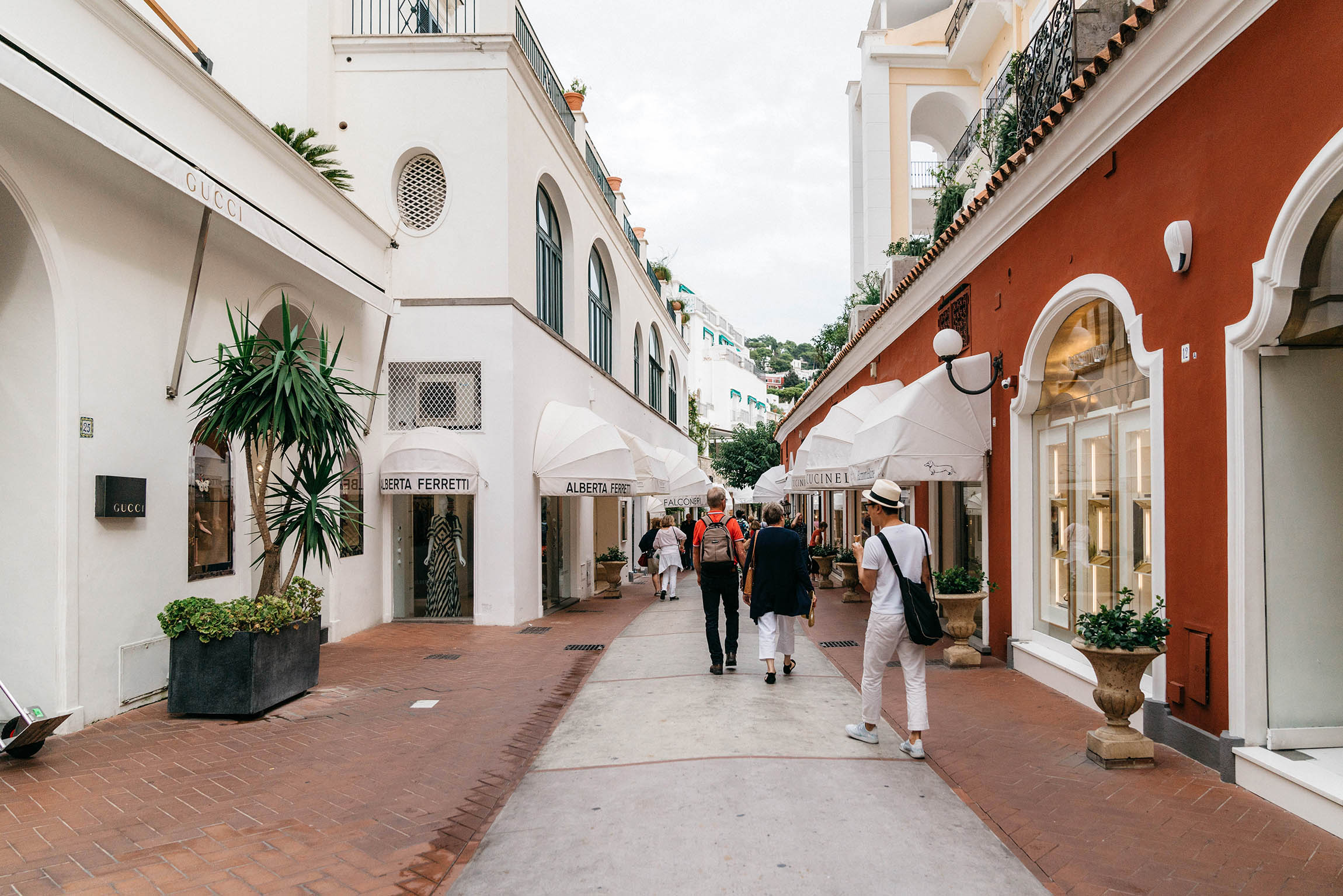 Streets dedicated to luxury shopping