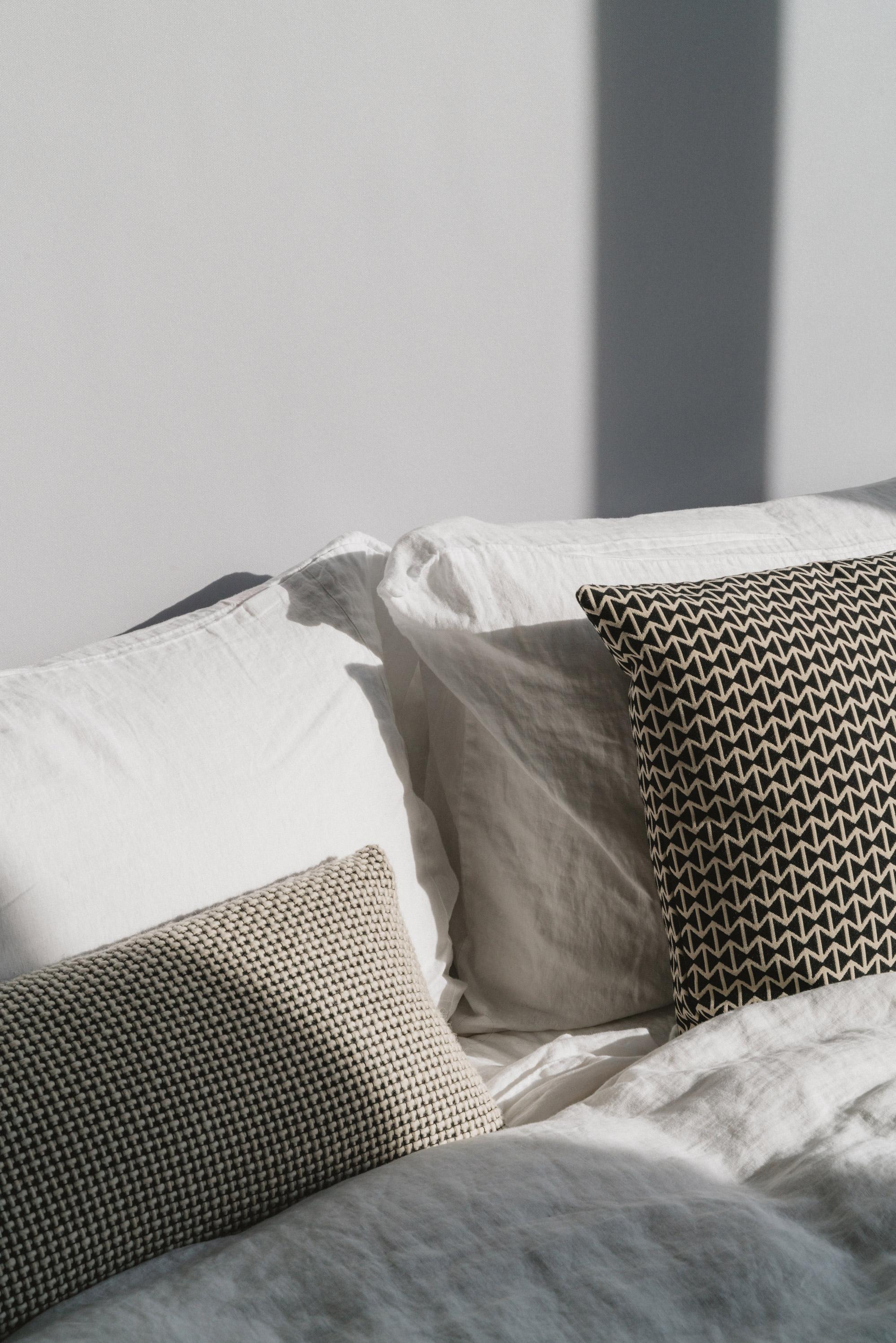 Linen Sheets from Design Within Reach ,  Herman Miller Pillows