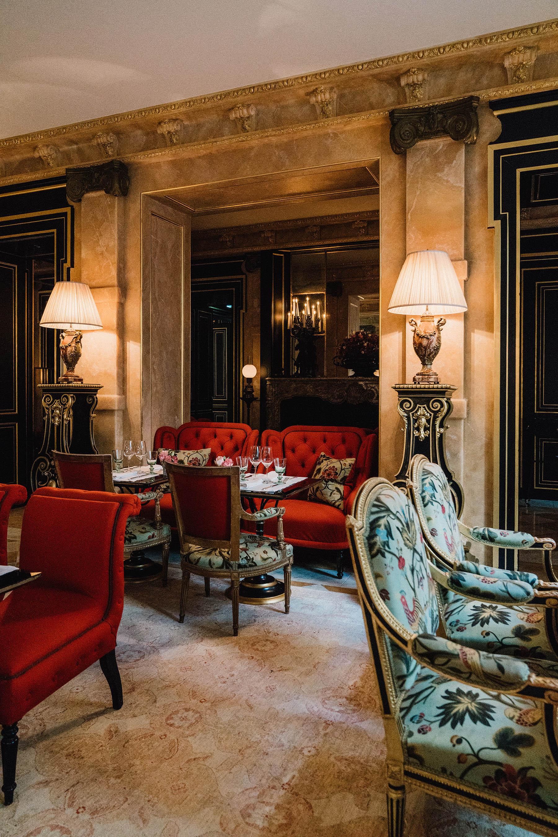Dinner at  La Pagode De Cos at La Reserve Paris