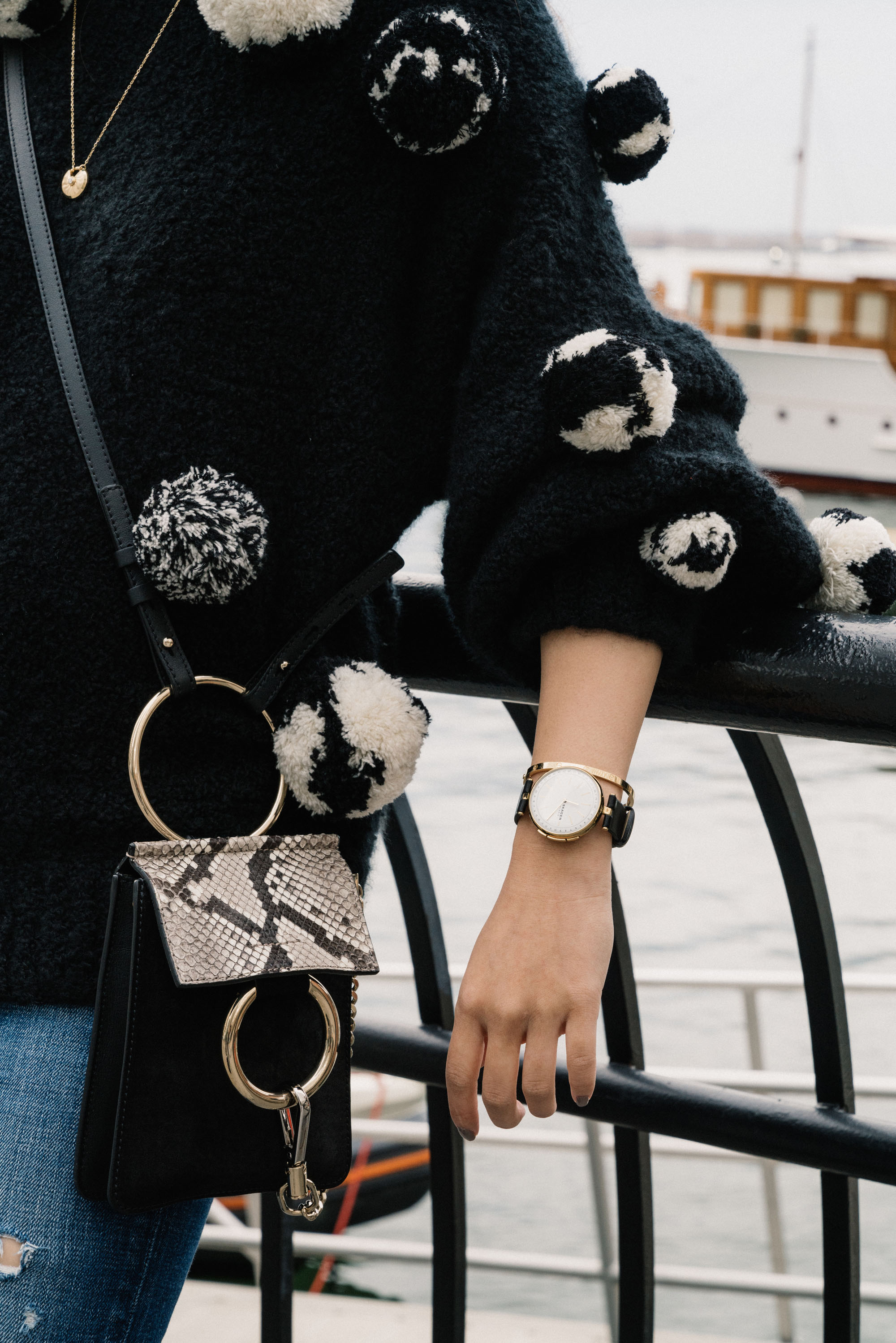 Spencer Vladimir Sweater,  Moussy Denim , Chloé Bag,  Skagen Watch ,  Cartier Bracelet