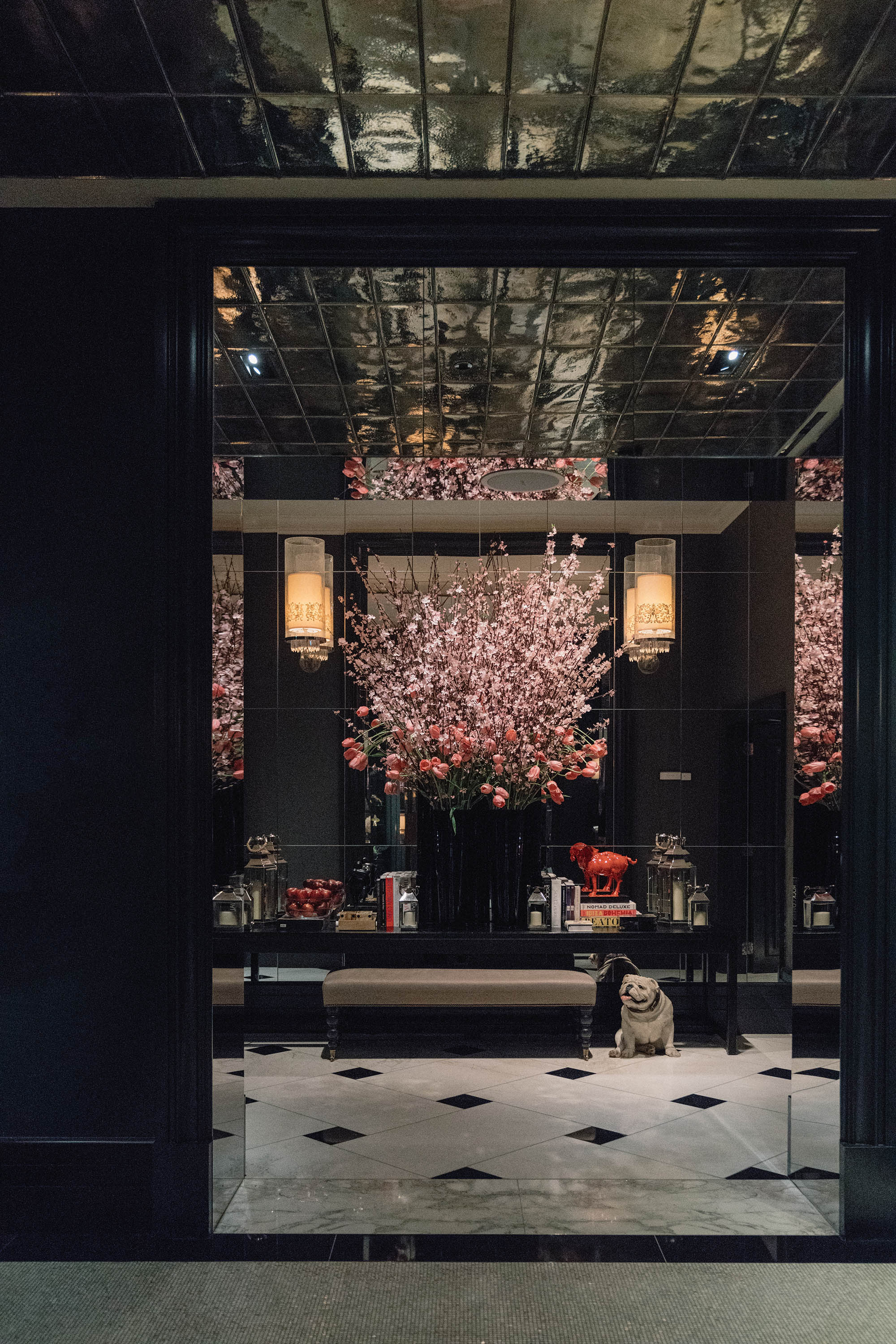 The lobby at  Rosewood London