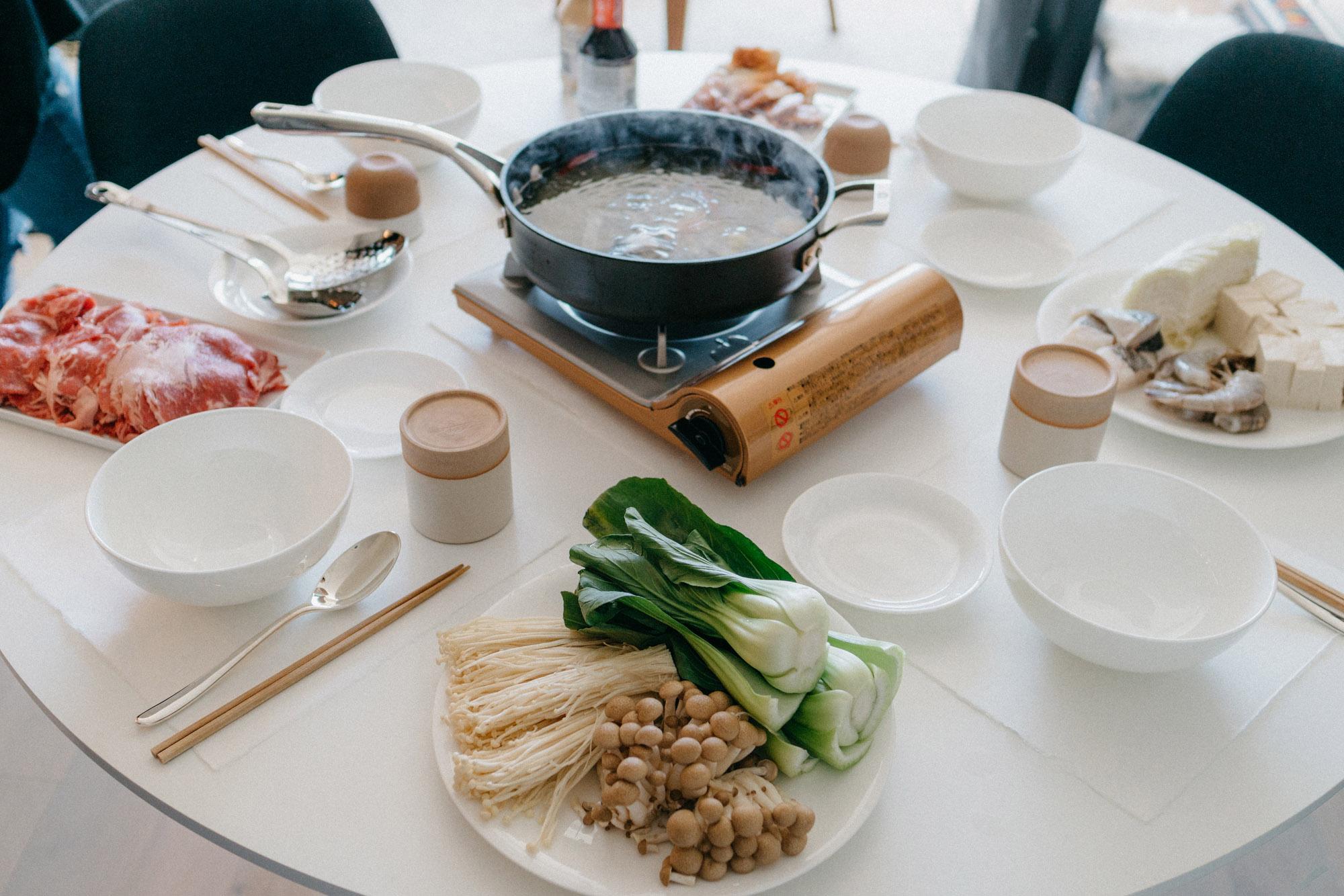 Hot pot at home with  Fran ,  Vivien ,  Yujin