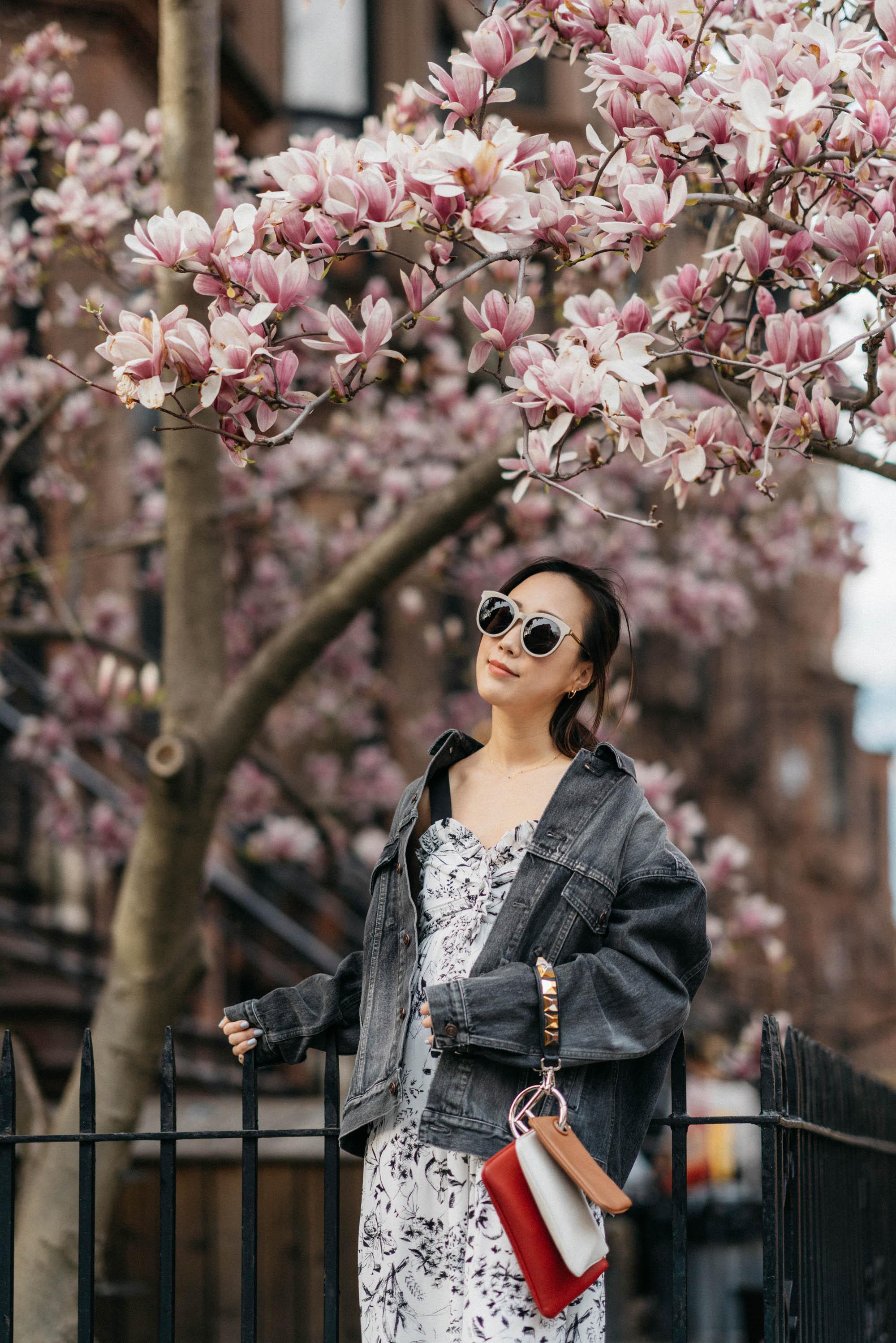 Balenciaga Jacket, Noon by Noor Dress, Fendi Bag, Gentle Monster Sunglasses
