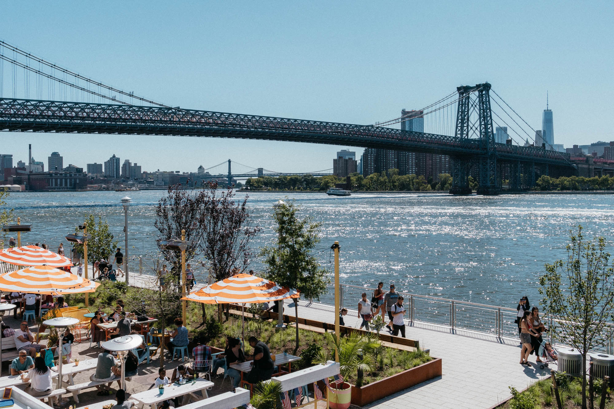 Domino Park  in Dumbo, Brooklyn