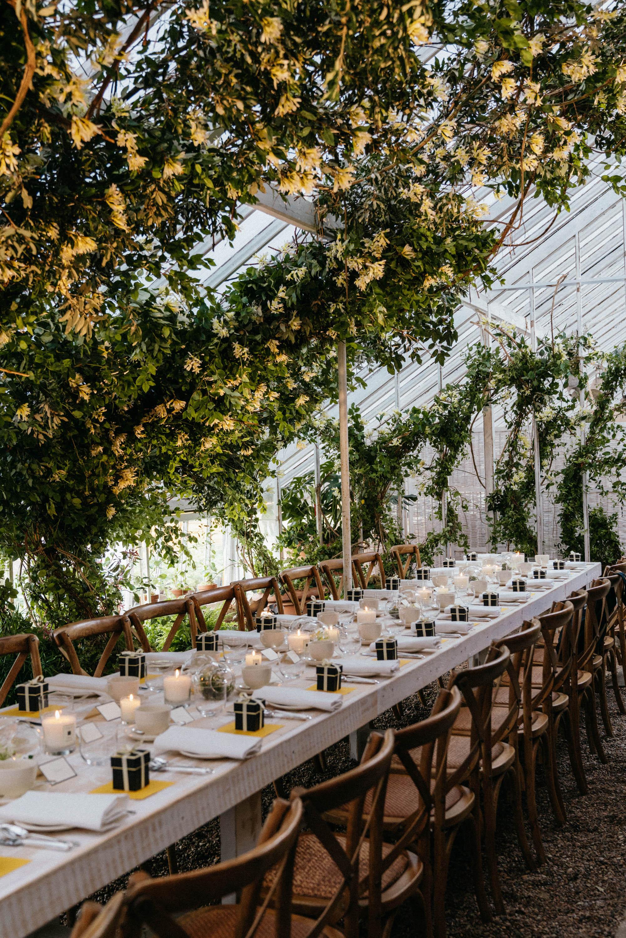 Beautiful lunch setting to celebrate Jo Malone London's Honeysuckle and Davana