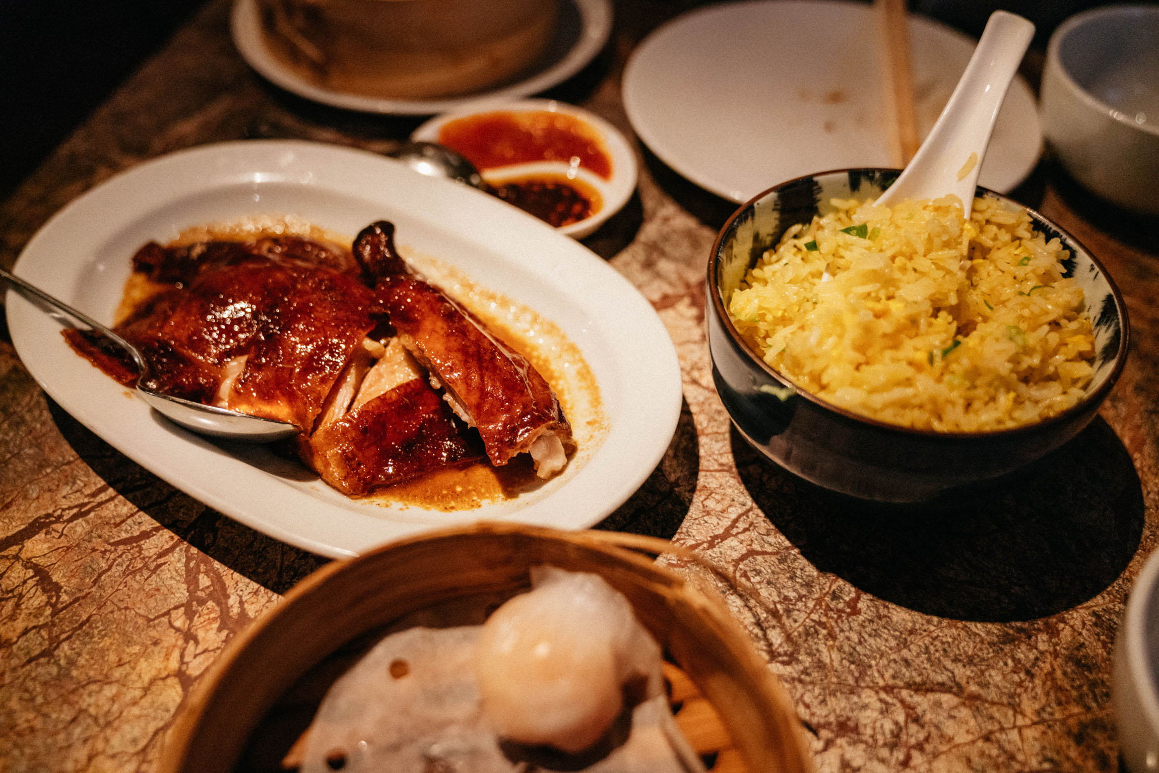 Quarter duck and egg fried rice