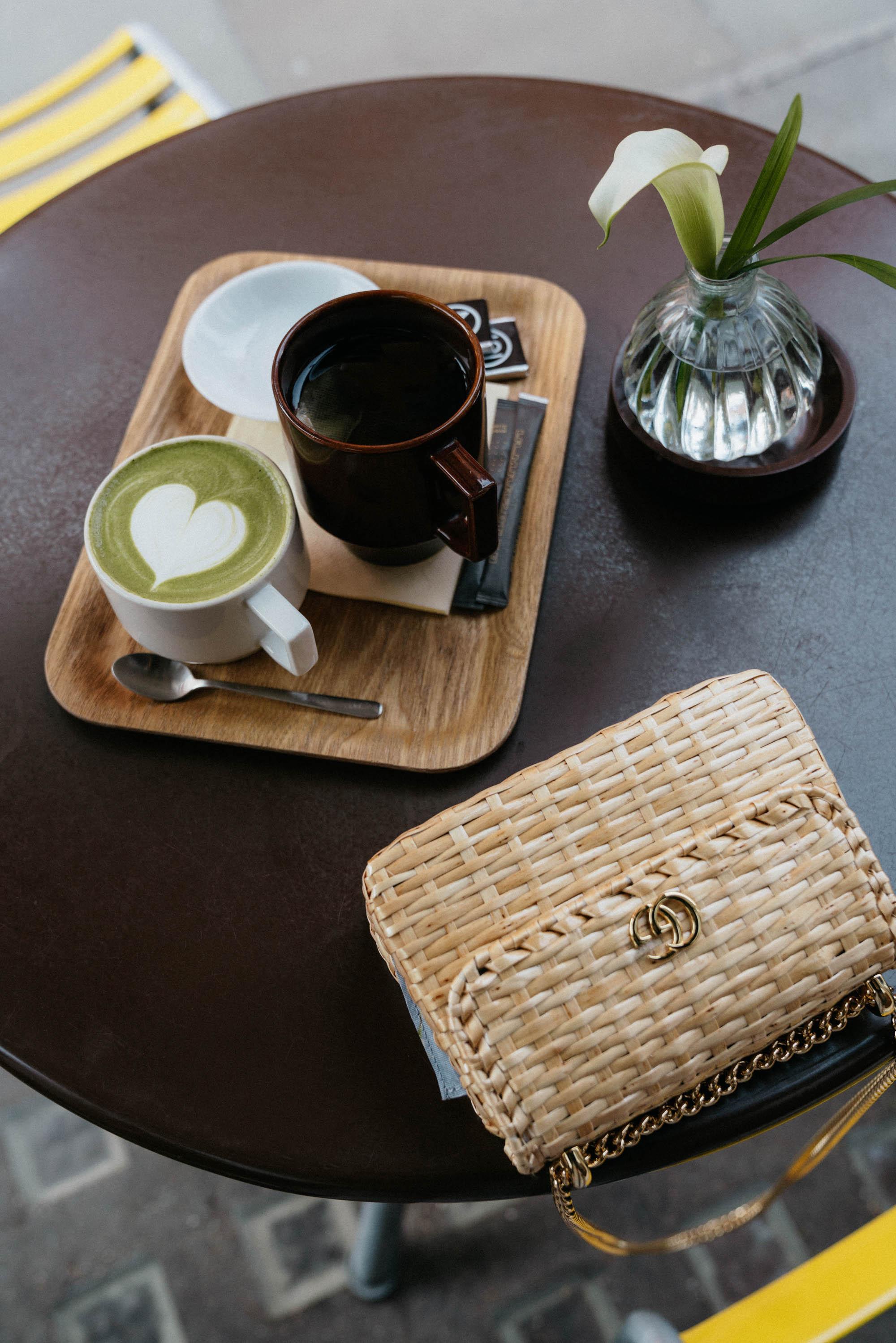 Matcha Latte and Hojicha