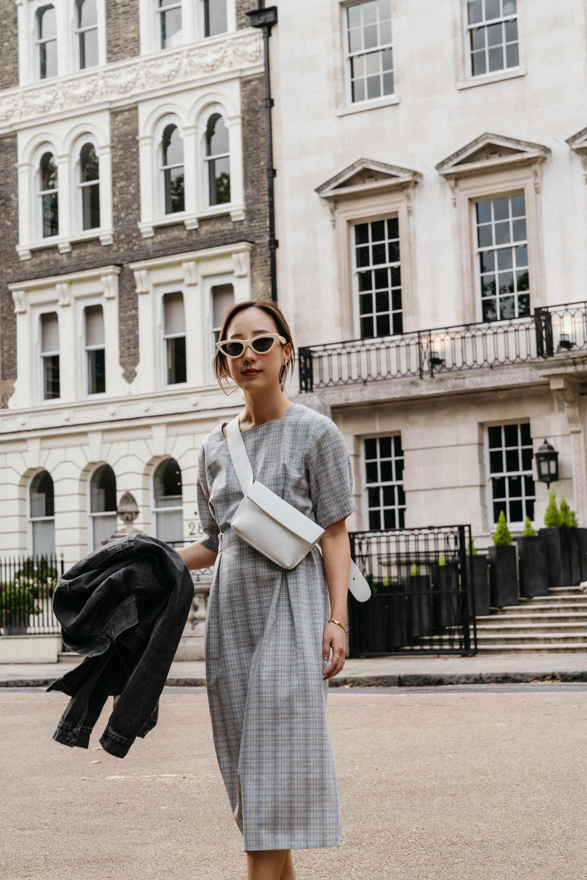 Aland Dress,  Yvonne Kone Bag ,  Celine Sunglasses ,  Area Earrings