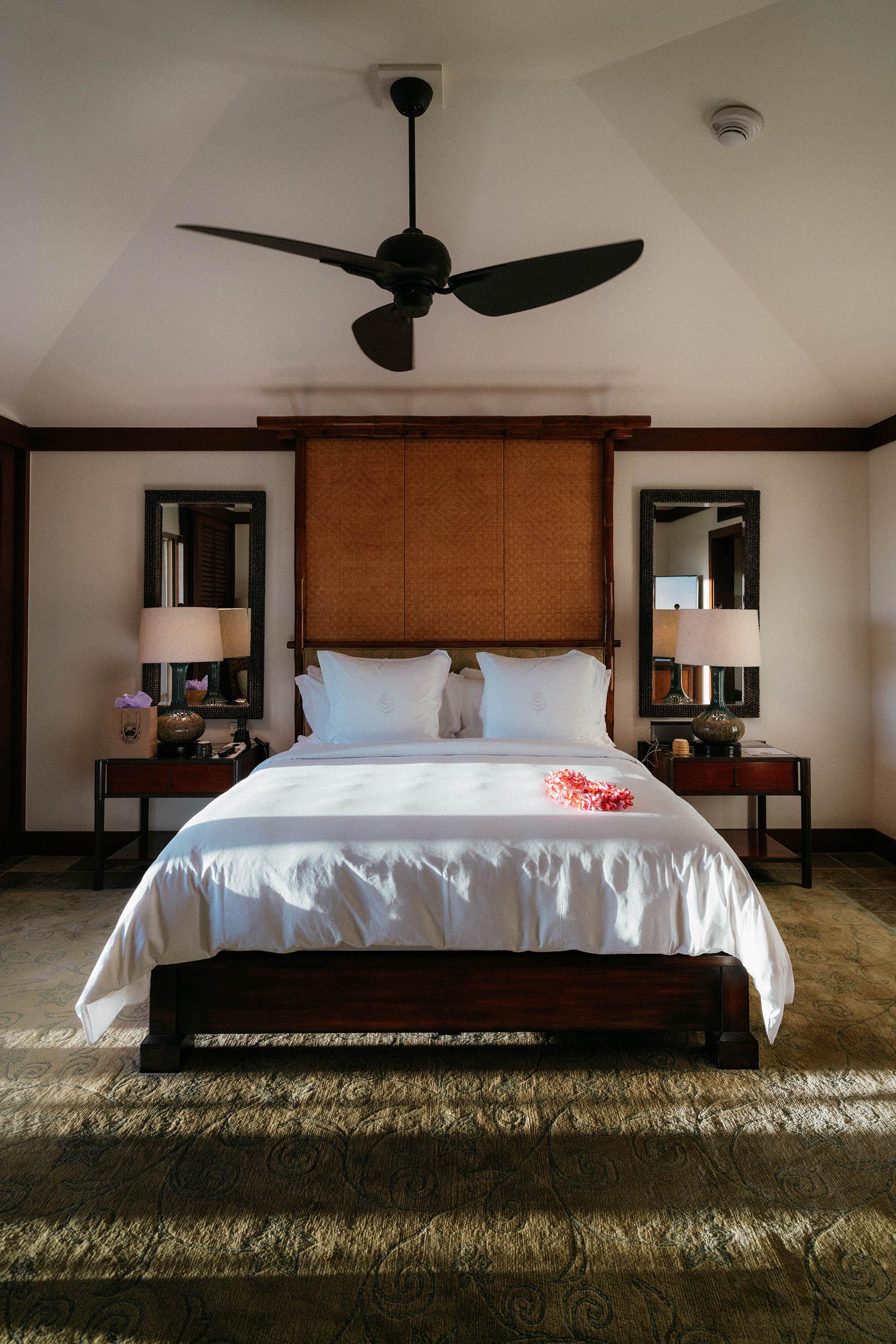 Our bedroom in the ocean view suite!