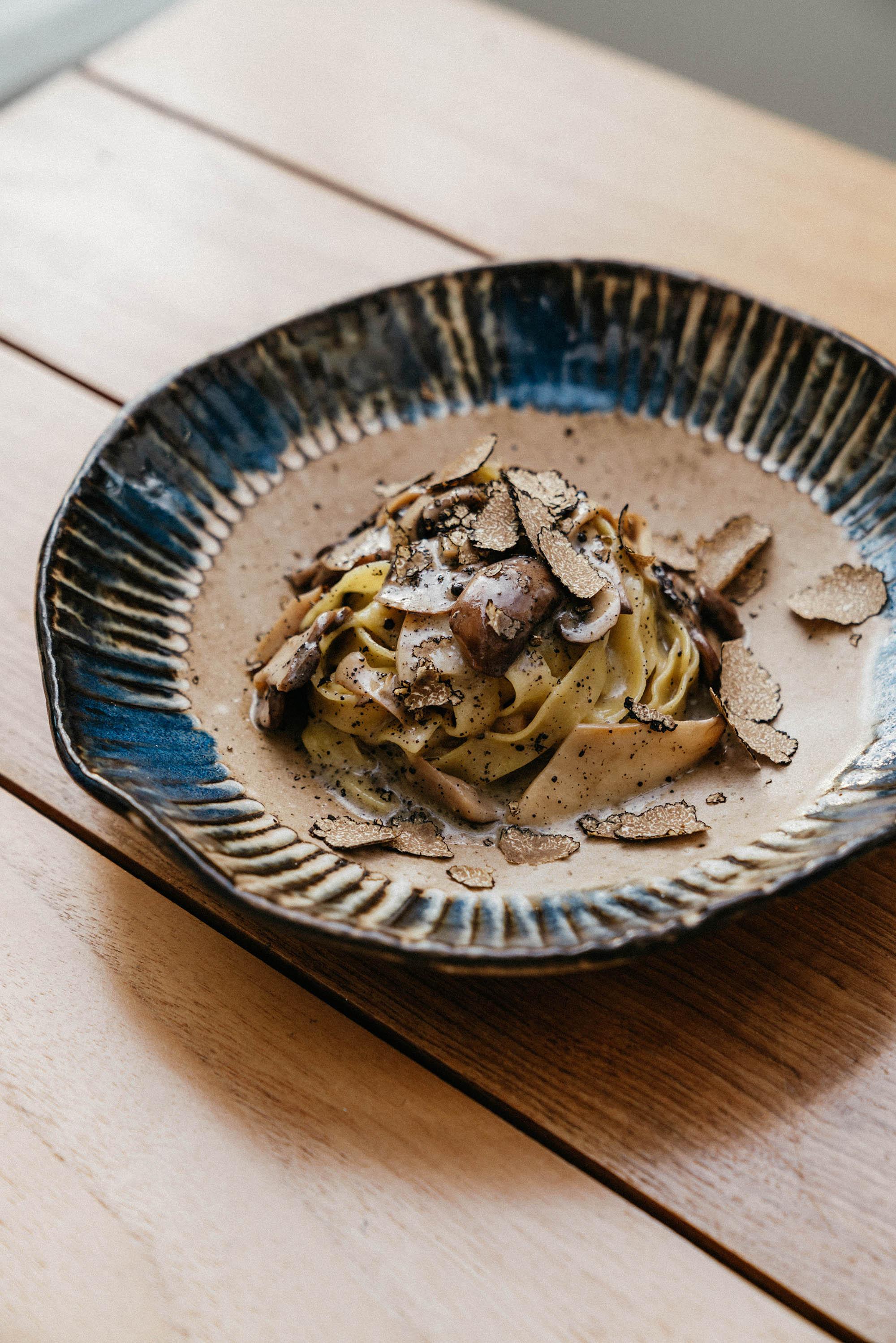 Tagliatelle w/ wild mushrooms and truffle