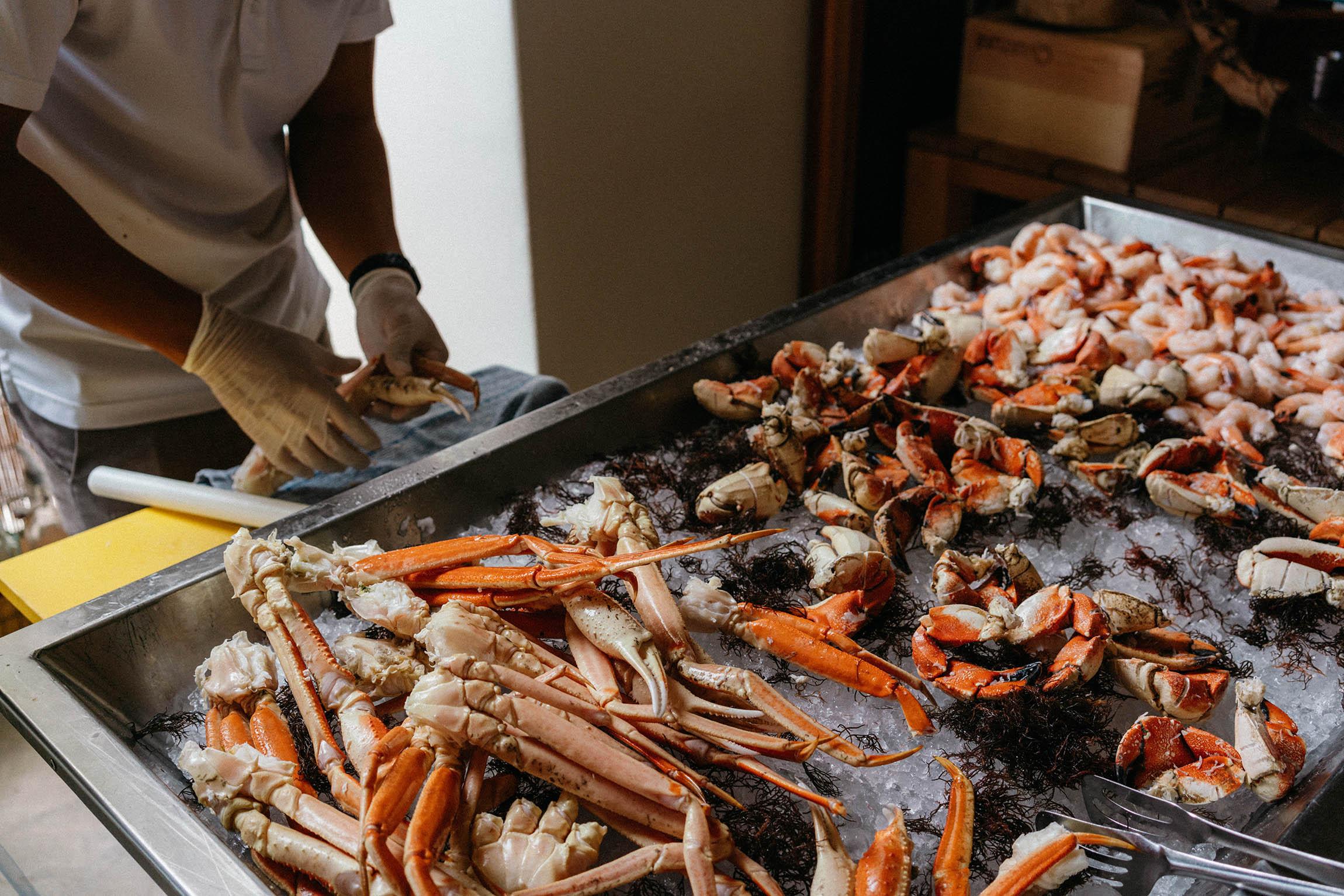 Weekend seafood brunch! Freshest buffet I've ever seen.