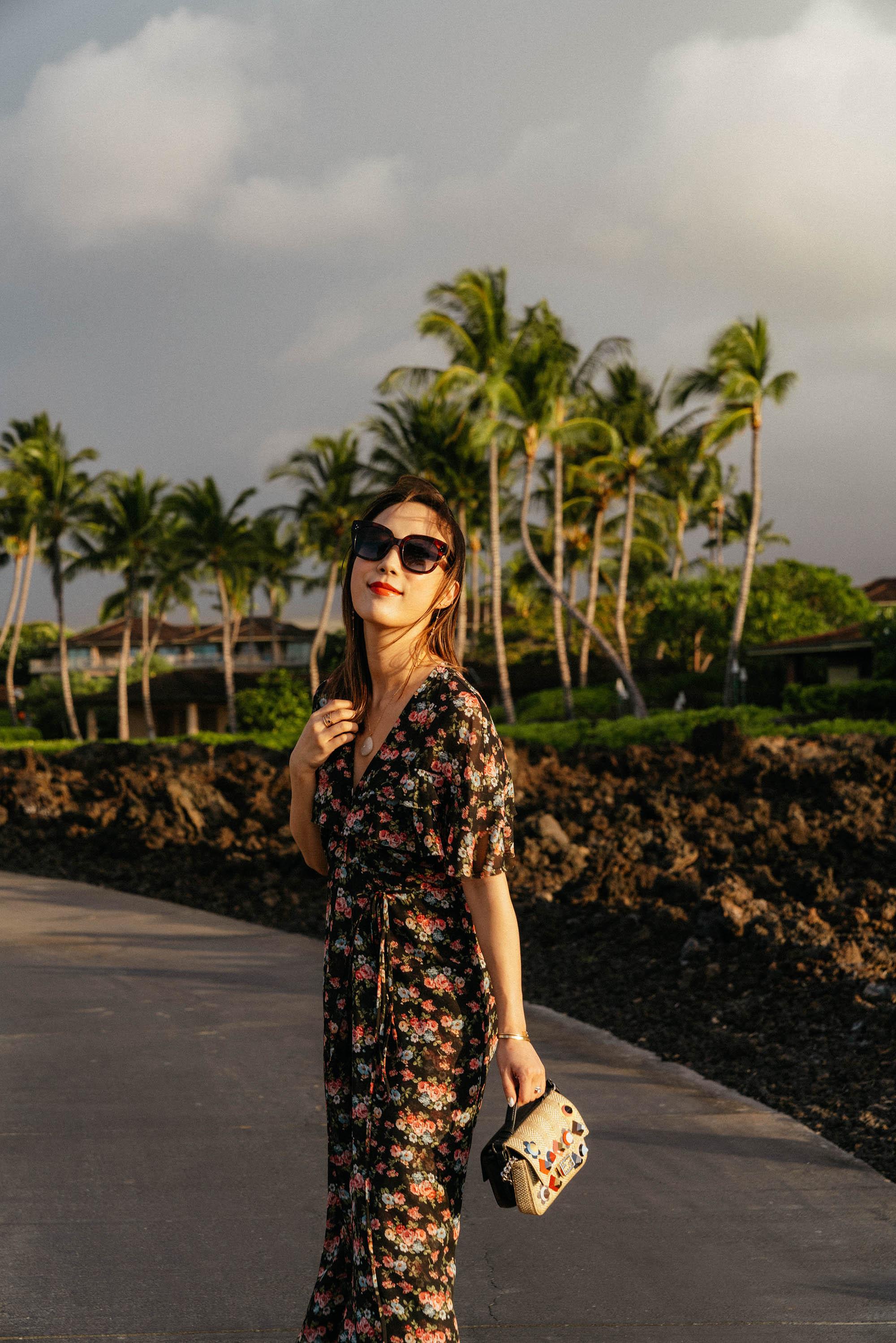 Barneys New York Dress ,  Yvonne Kone Sandals , Fendi Bag,  Celine Sunglasses