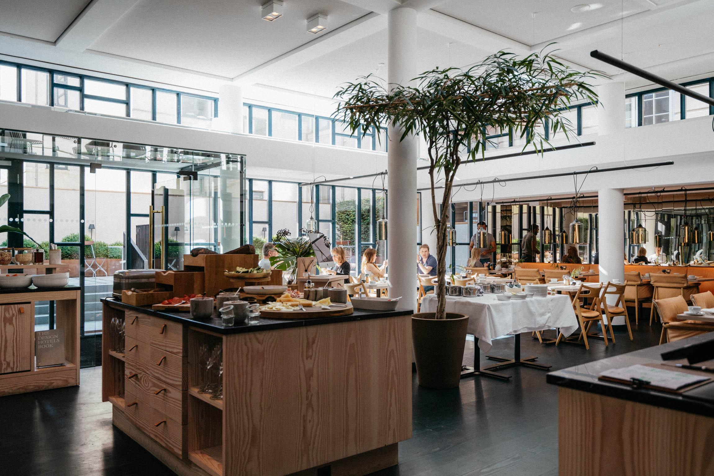Daily breakfast in the  Nobis Hotel Copenhagen  kitchen