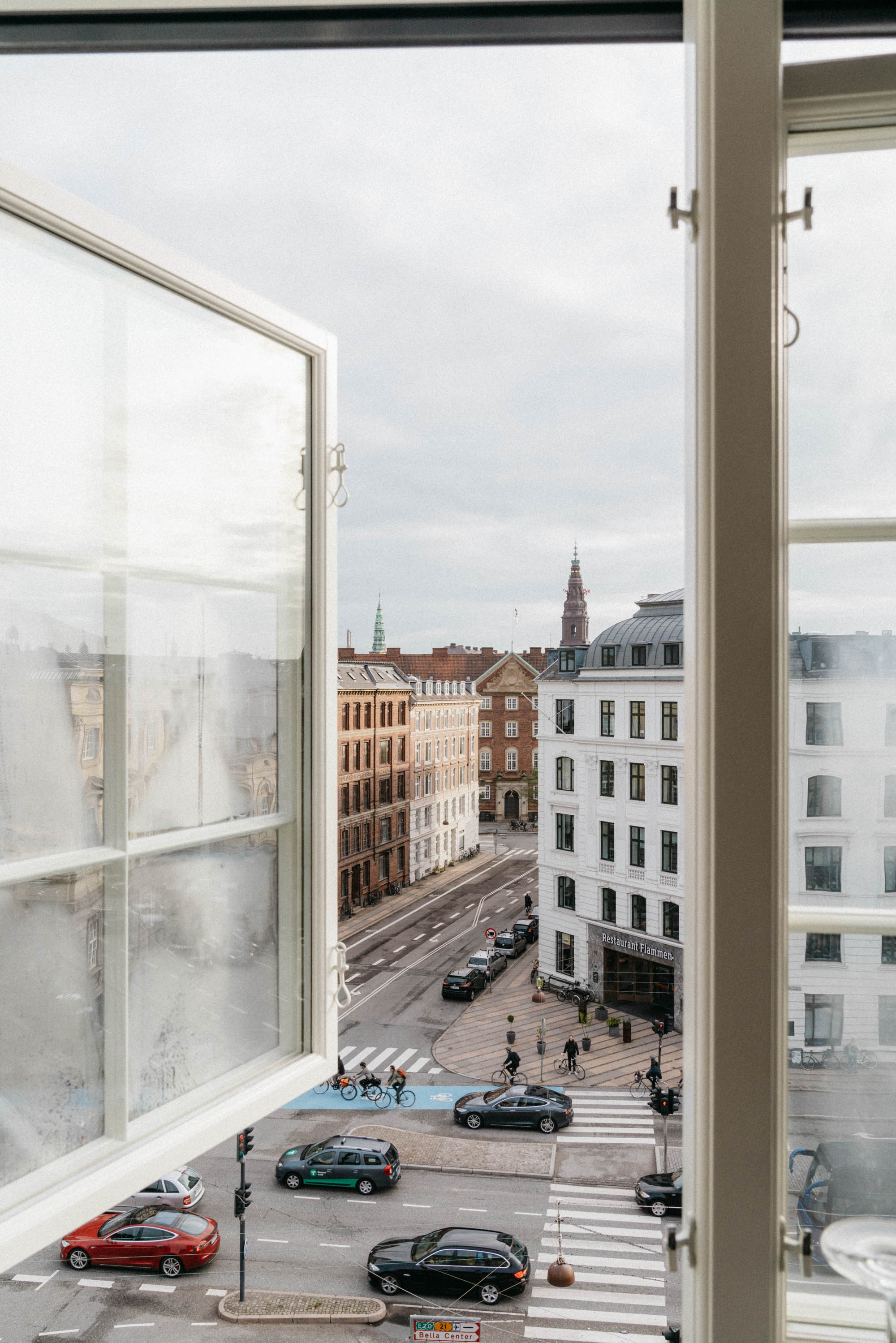 Views from our room at  Nobis Hotel Copenhagen