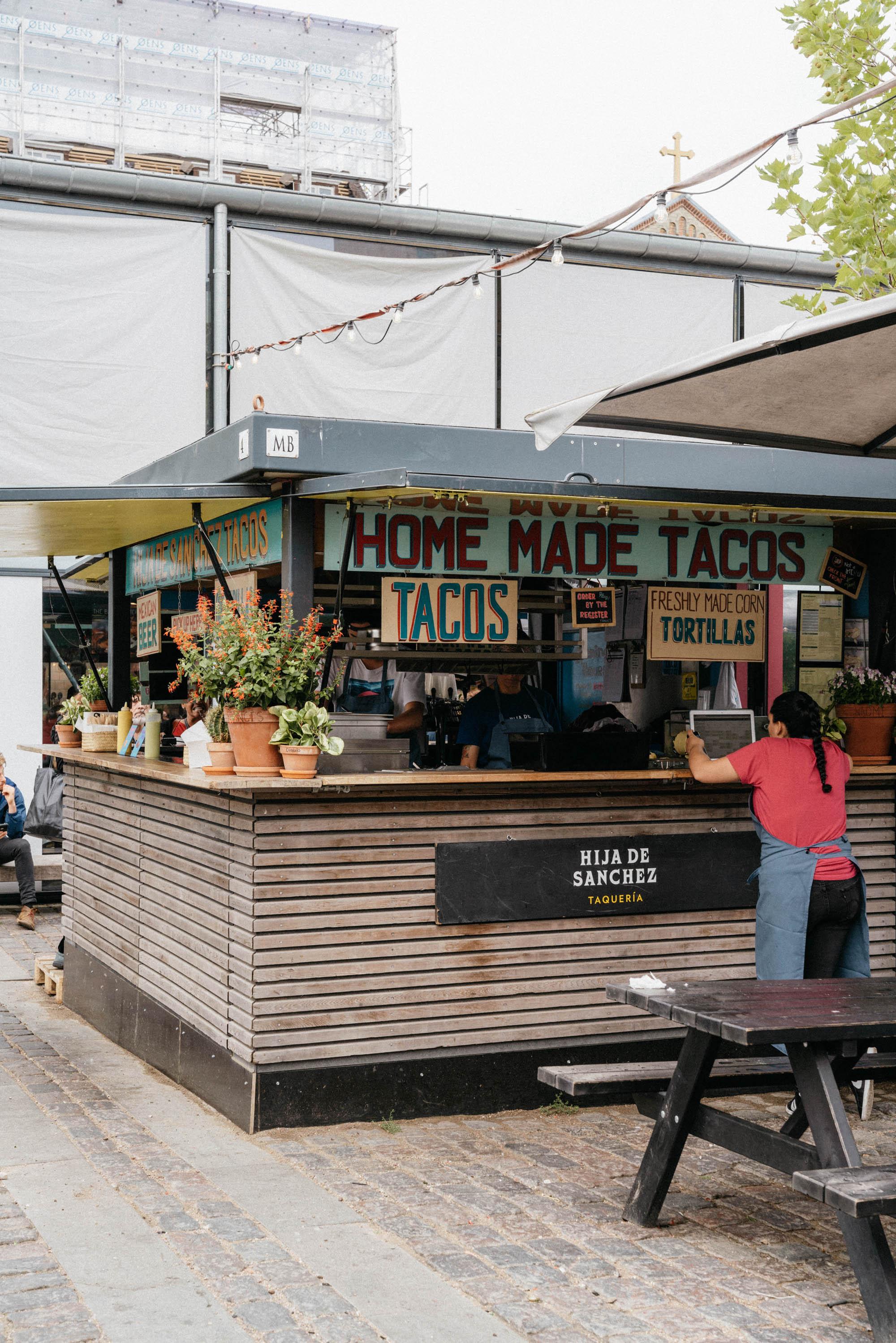 Tacos at  Hija de Sanchez  (inside Torvehallerne Food Market)