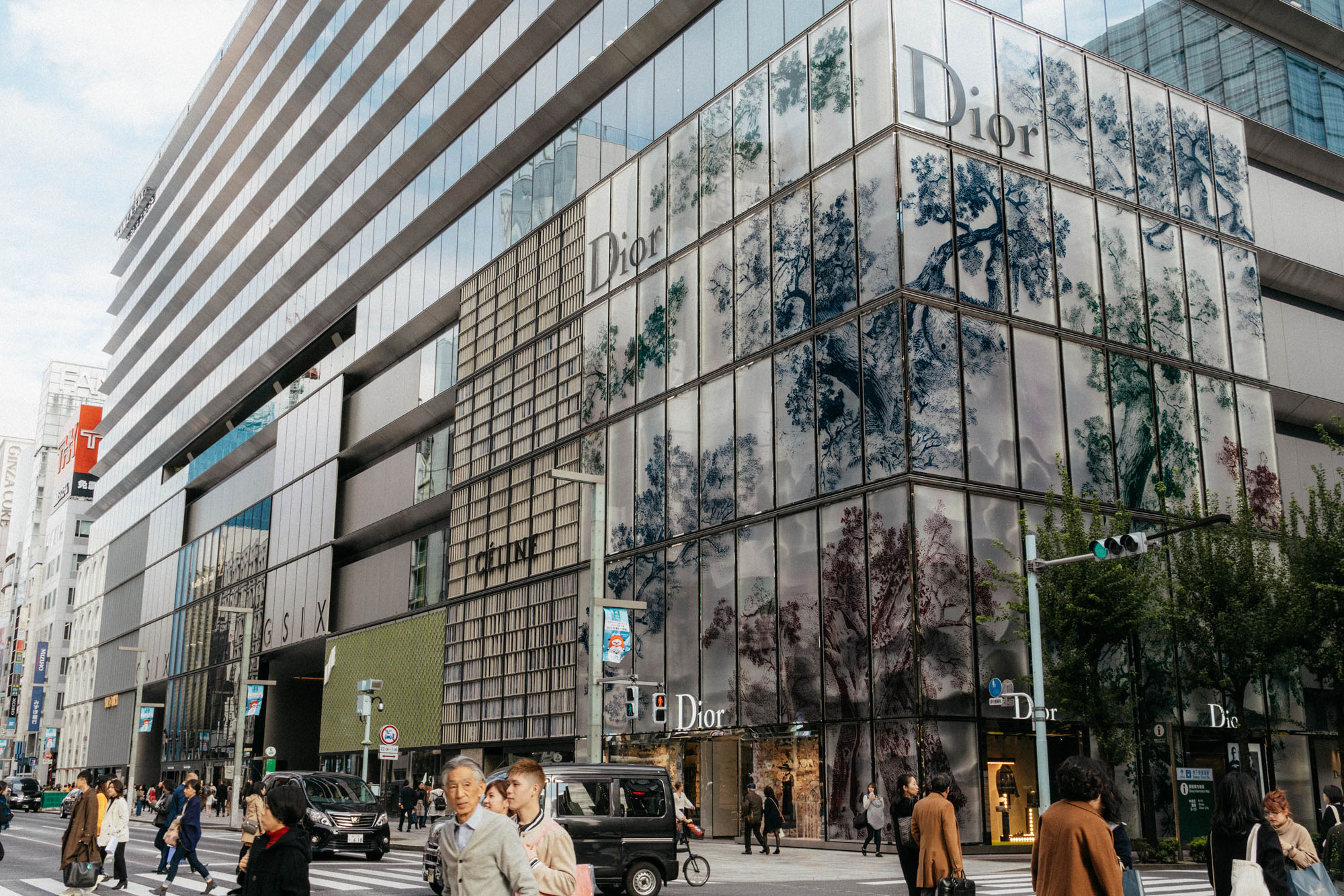 Ginza Six , one of Tokyo's newest luxury shopping malls.