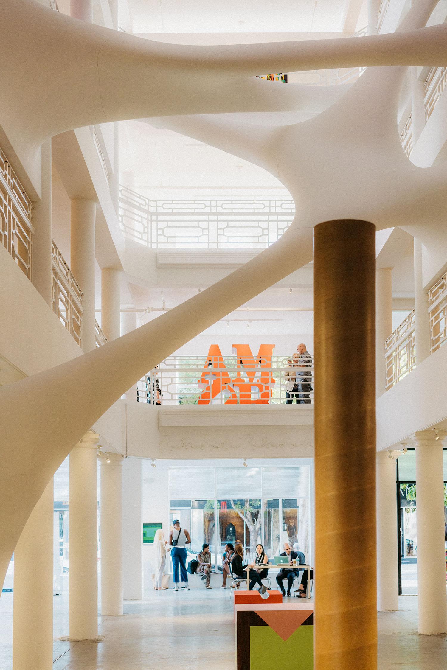 Zaha Hadid's Elastika sculpture