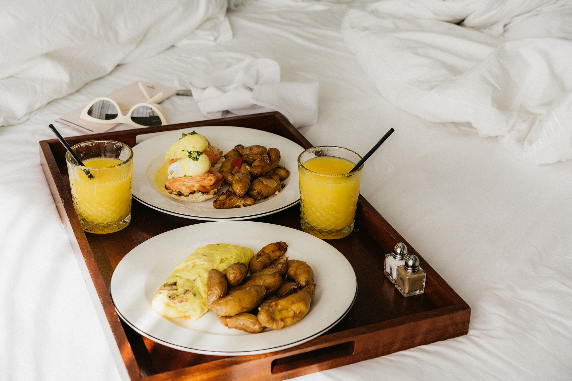 Simple breakfast in bed to start the day!