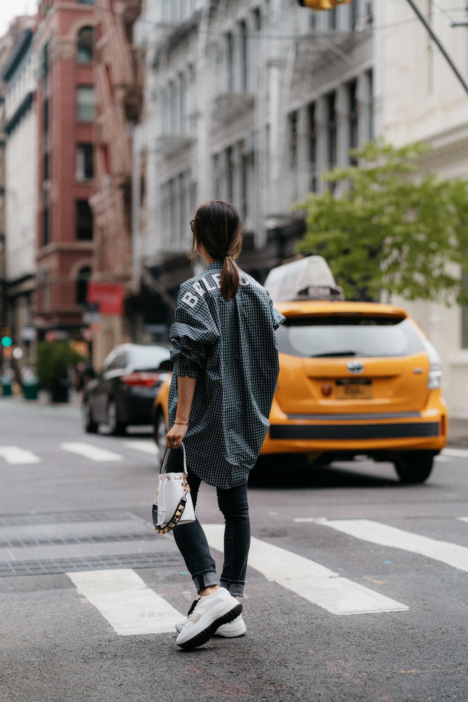 Balenciaga Top ,  R13 Denim , Céline Sneakers,  Fendi Bag