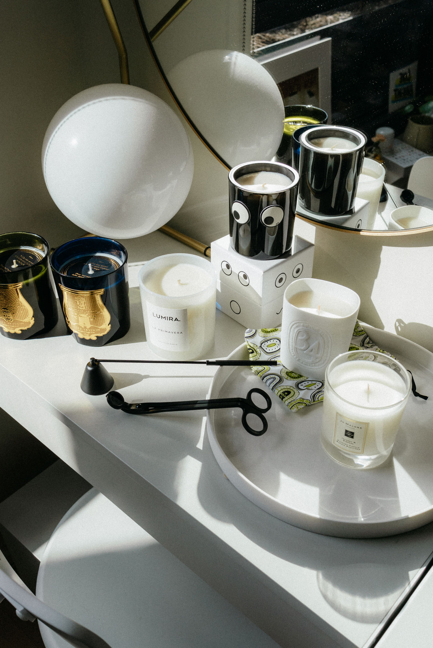 Cire Trudon Candles ,  Lumira Candle ,  Anya Hindmarch Candle ,  Diptyqye Candle ,  Jo Malone Candle