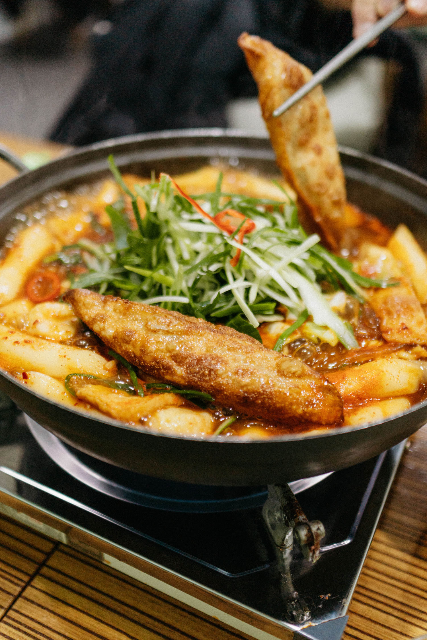 Spicy rice cakes at  반당