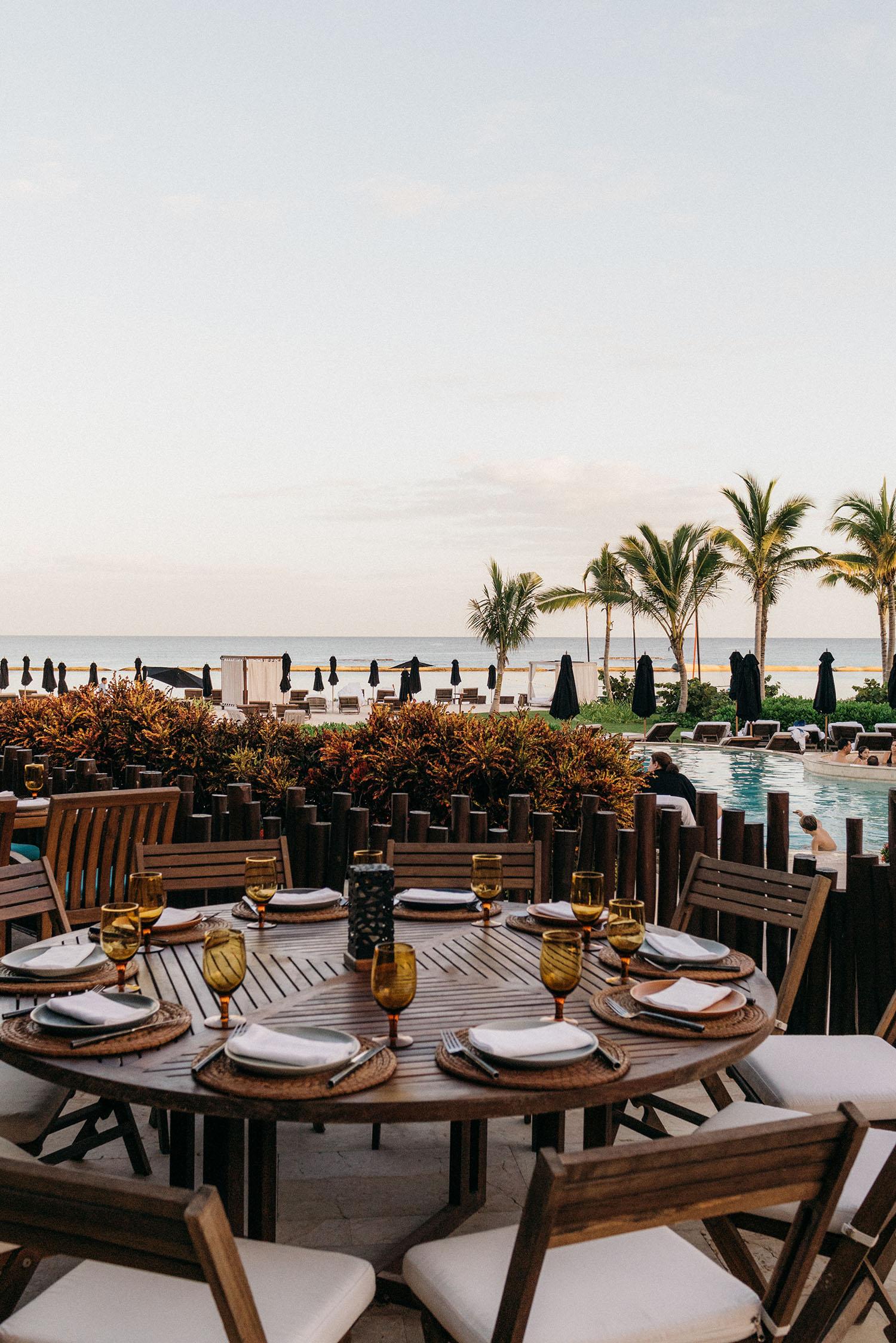First night's dinner with a view at  Punta Bonita .
