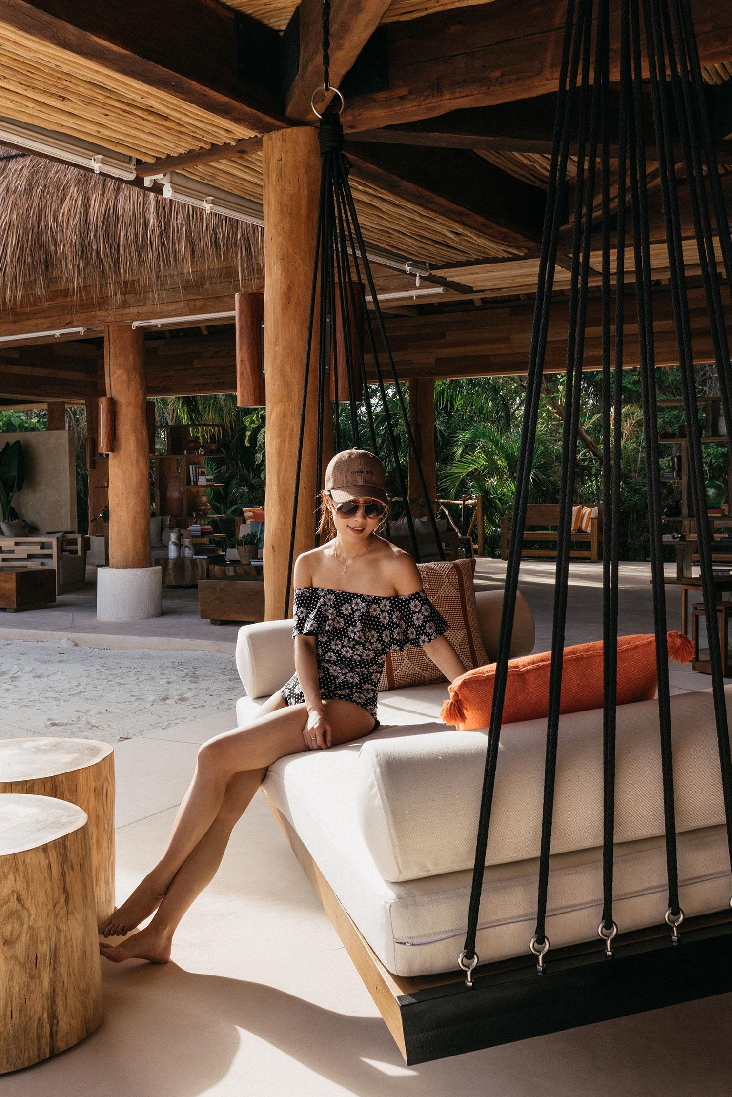 Lisa Marie Fernandez Swimsuit , Converse Tokyo Hat,  Celine Sunglasses