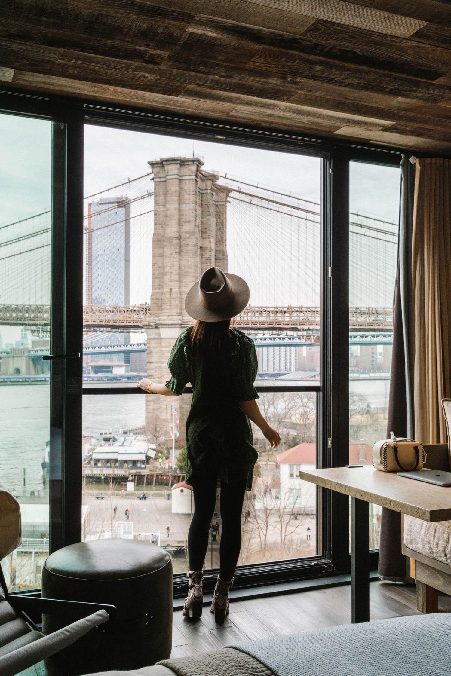 Staycation at  1 Hotel Brooklyn Bridge