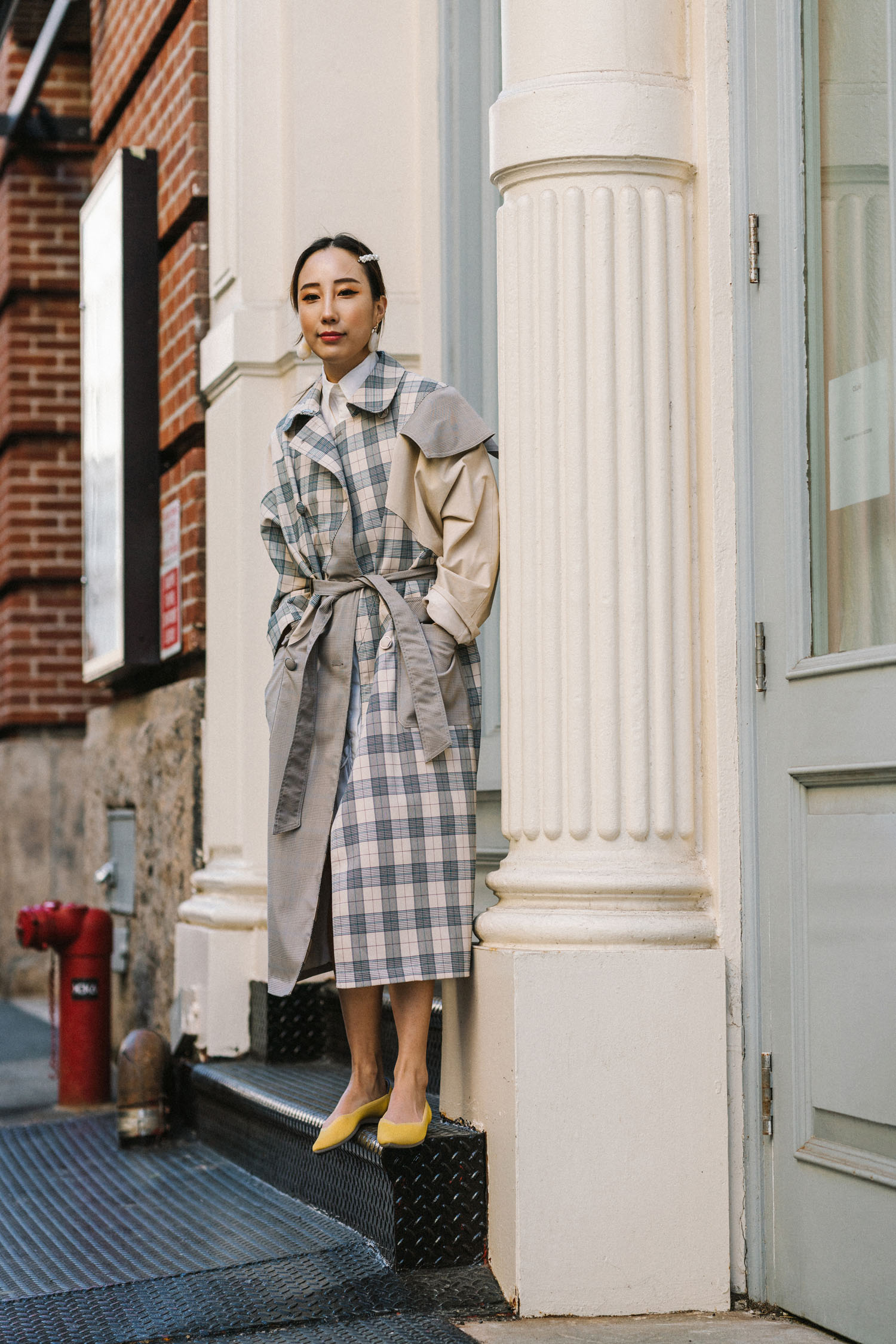 LIE Collection Jacket , J.W. Anderson Dress,  Rothy's Shoes