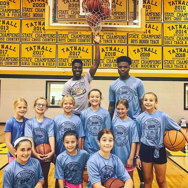 T Shirt day at OHP BASKETBALL. #successisearned #ohp🏀family
