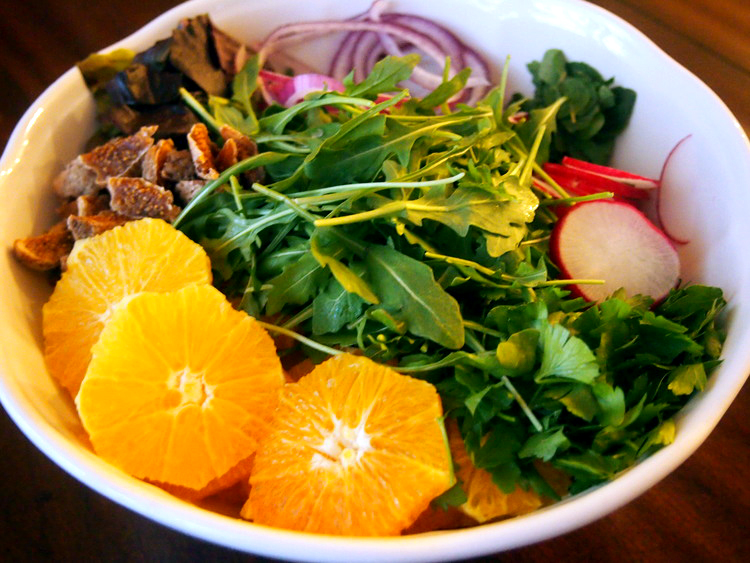 orange-salad-arugula-mint