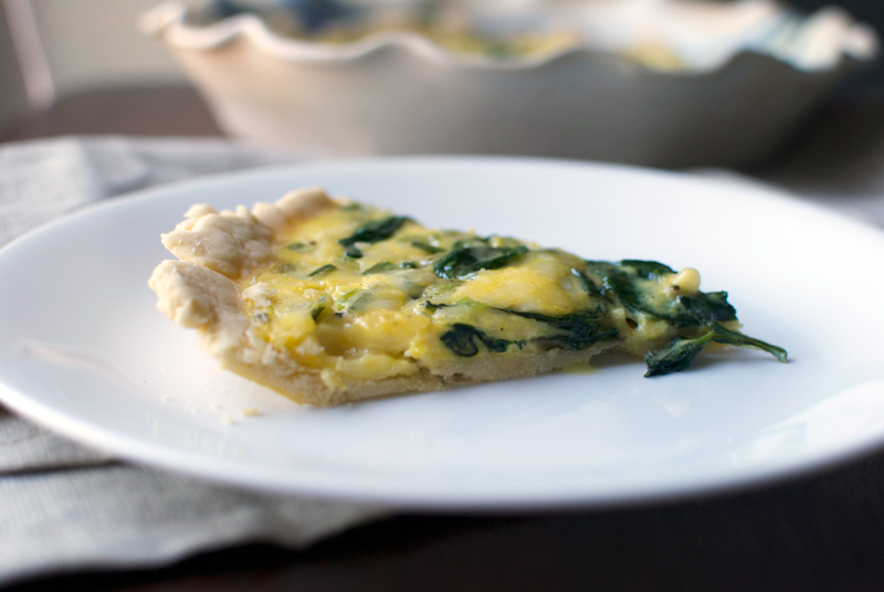 spinach-gouda-green-onion-quiche