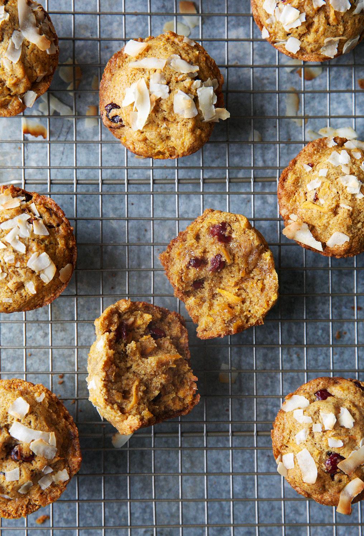 Healthy Cranberry-Orange Sweet Potato Muffins