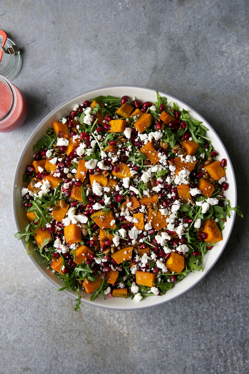 Winter Squash Salad With Pomegranate and Feta