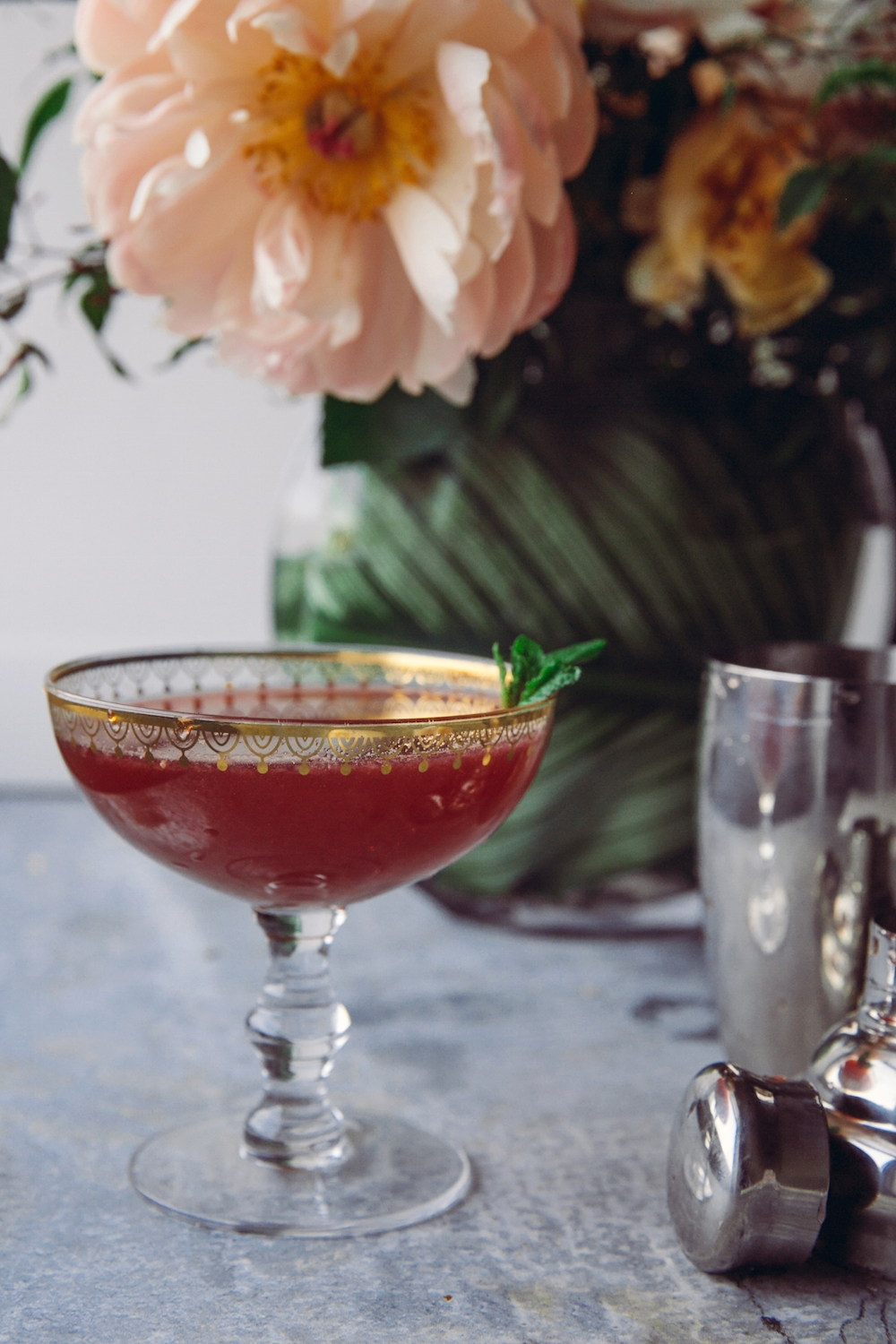 Pomegranate Ginger Red Carpet Cocktail