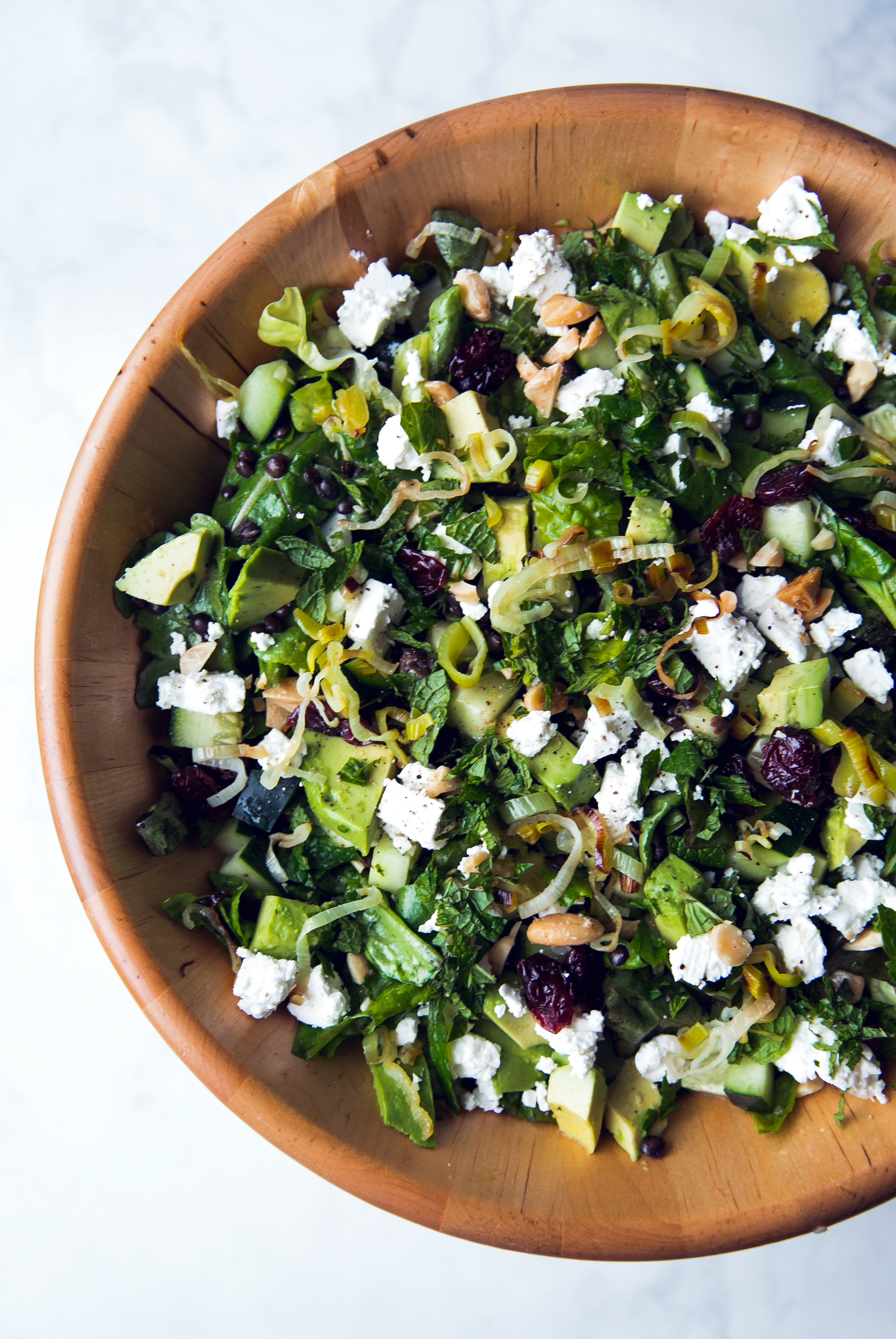 Black Lentil, Feta, and Avocado Salad With Lemon-Dijon Vinaigrette