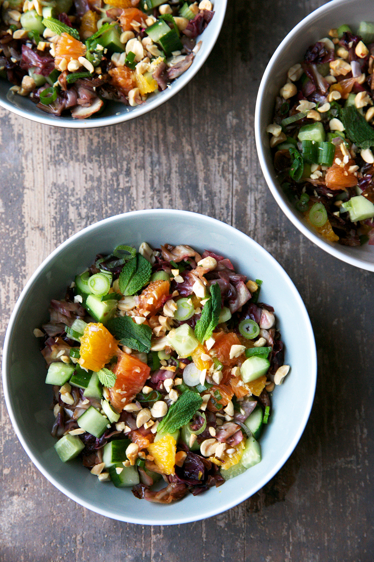 Radicchio Salad With Oranges and Mint