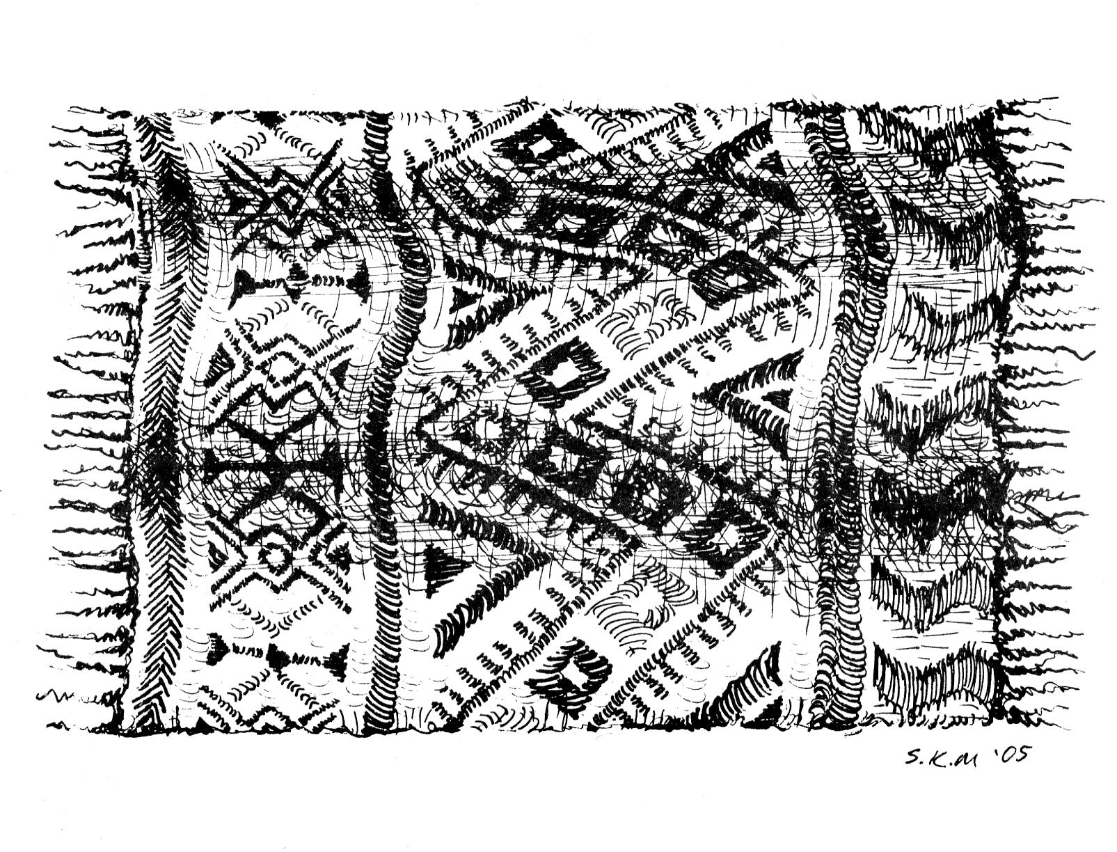 One of Sarah's pen and ink drawings.