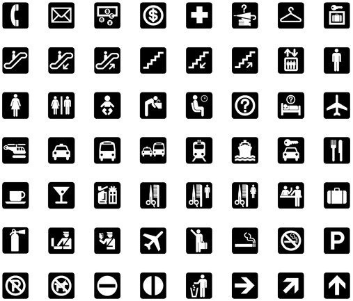 AIGA transportation symbols