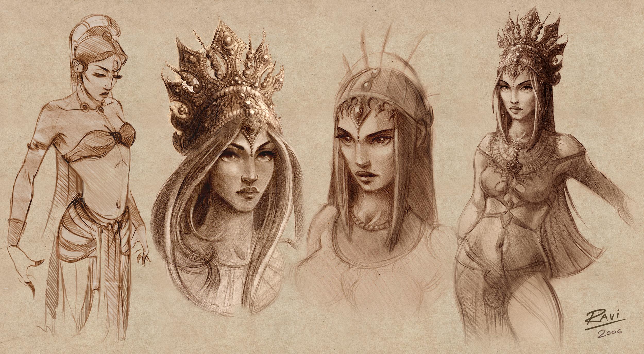 Ravinder kundi - Final Journey sketches